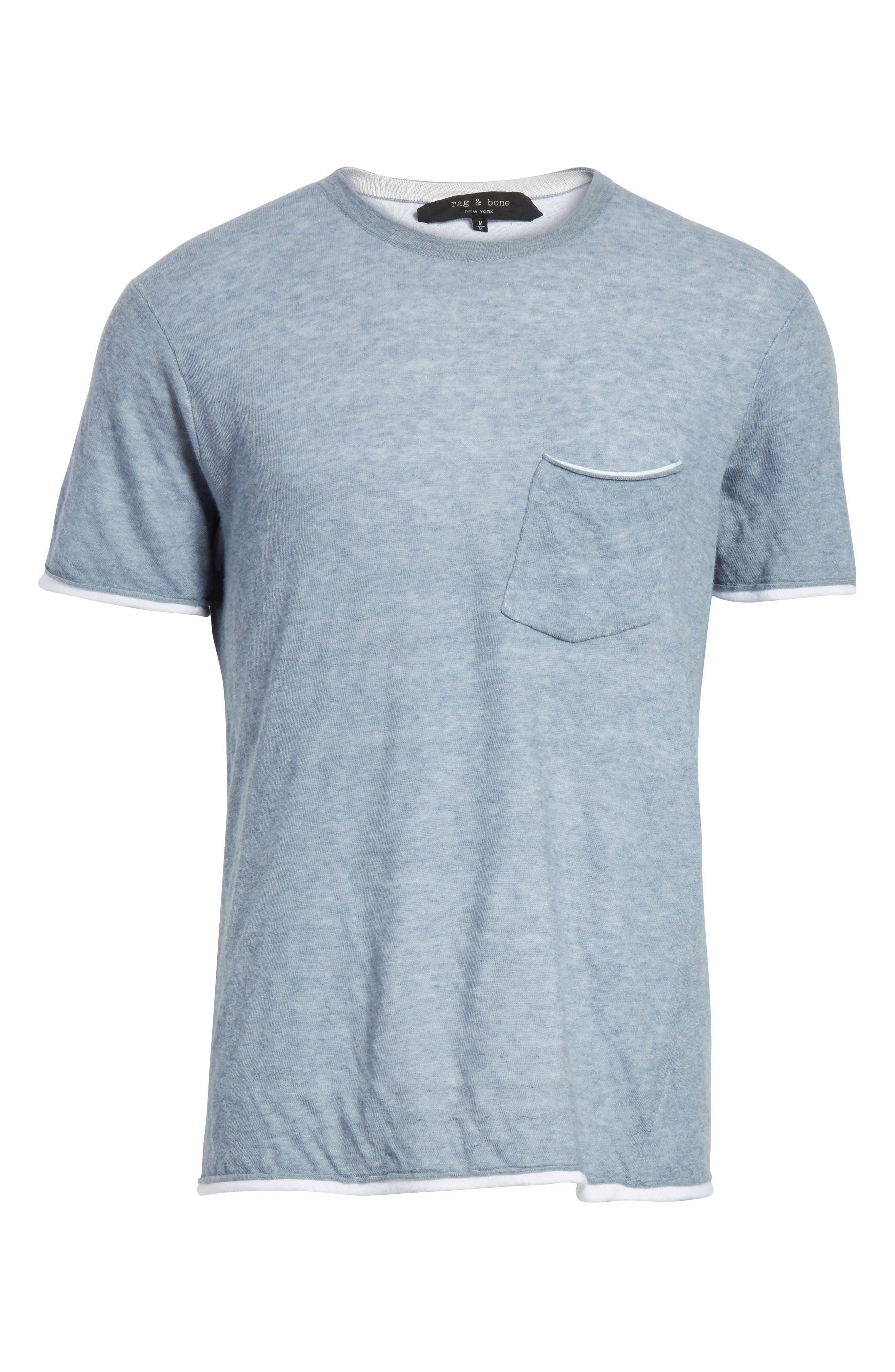 Tripp Pocket T-Shirt,                             Alternate thumbnail 6, color,                             Light Blue