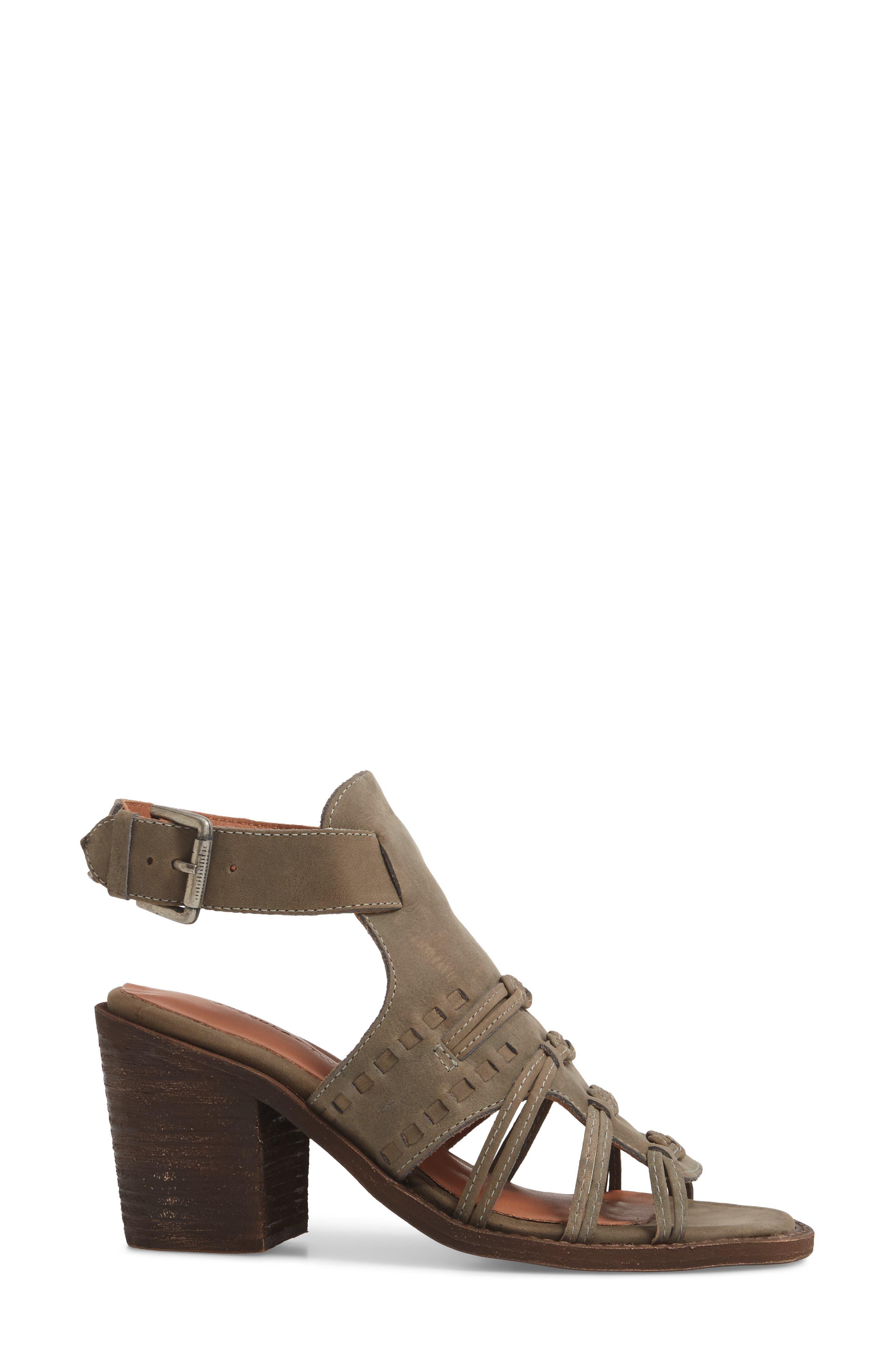 Volcano Sandal,                             Alternate thumbnail 3, color,                             Grey Leather