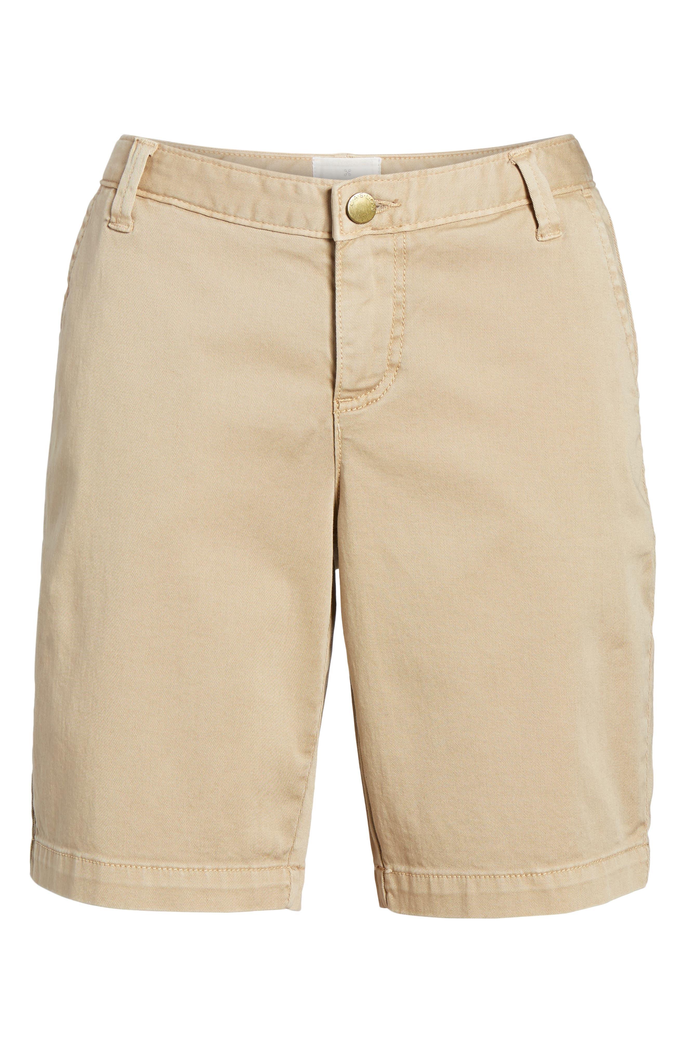 Twill Shorts,                             Alternate thumbnail 6, color,                             Tan Oxford