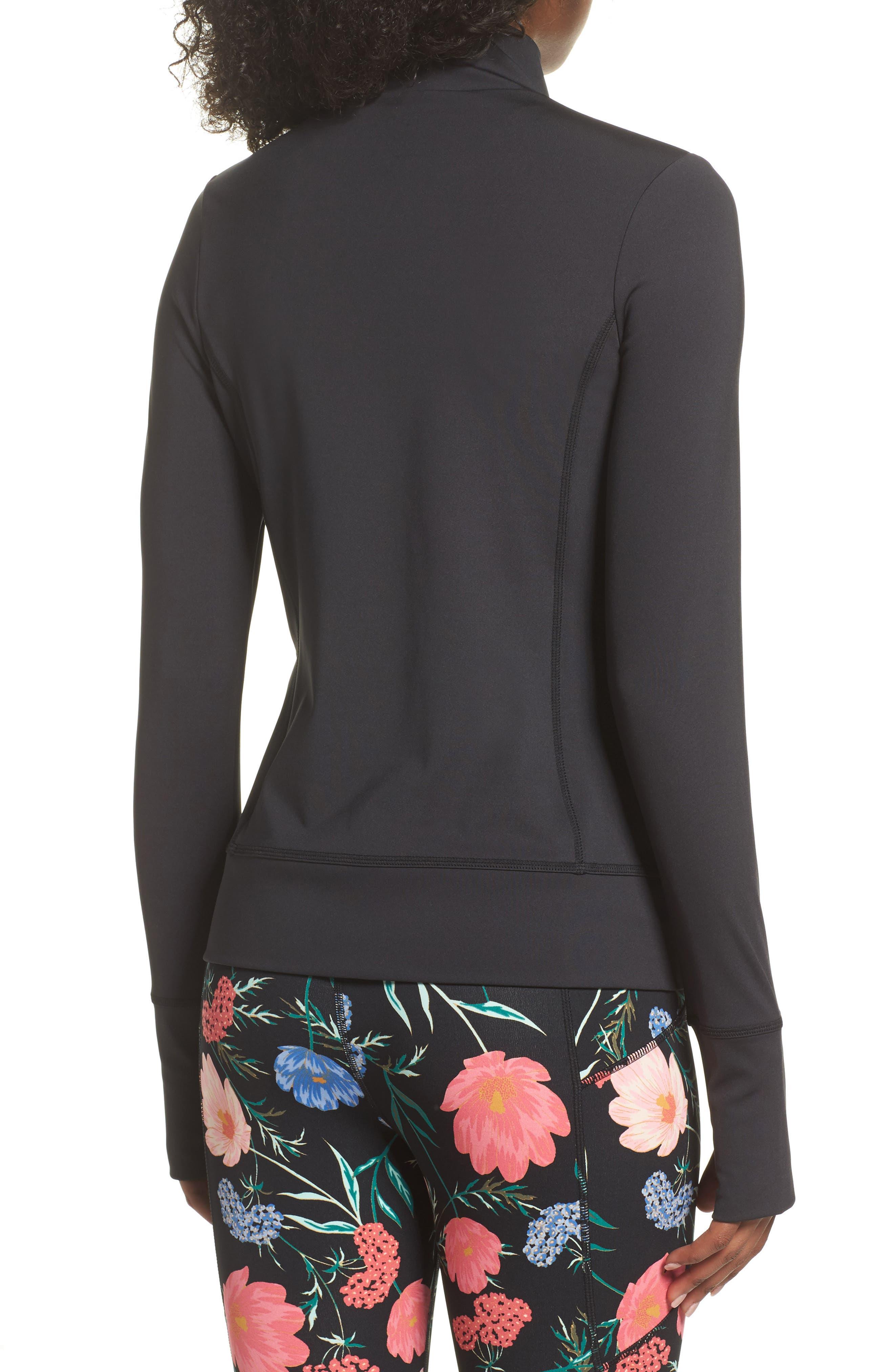 flora laser cut jacket,                             Alternate thumbnail 2, color,                             Black
