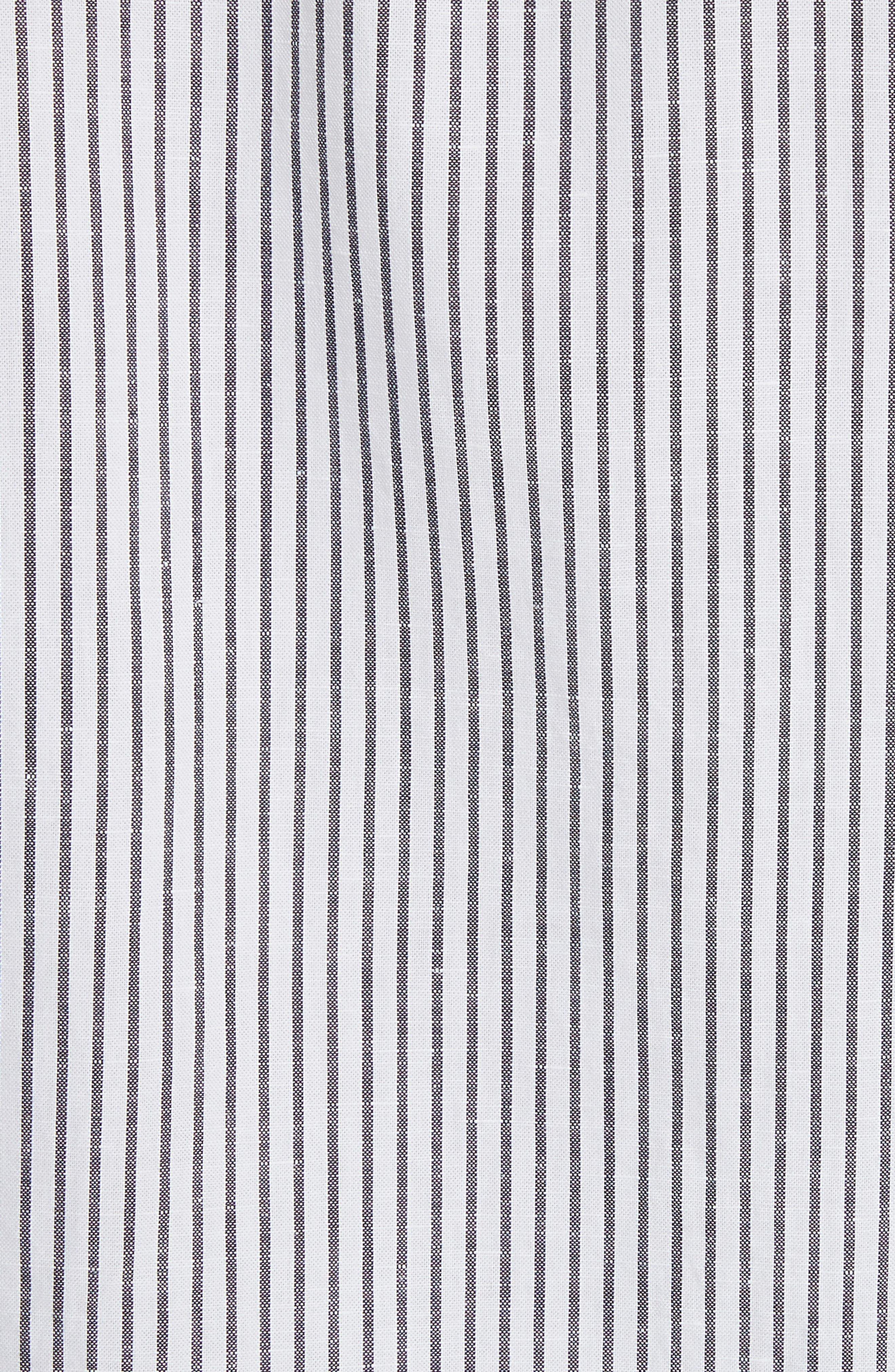 Stripe Short Sleeve Sport Shirt,                             Alternate thumbnail 5, color,                             White/Navy