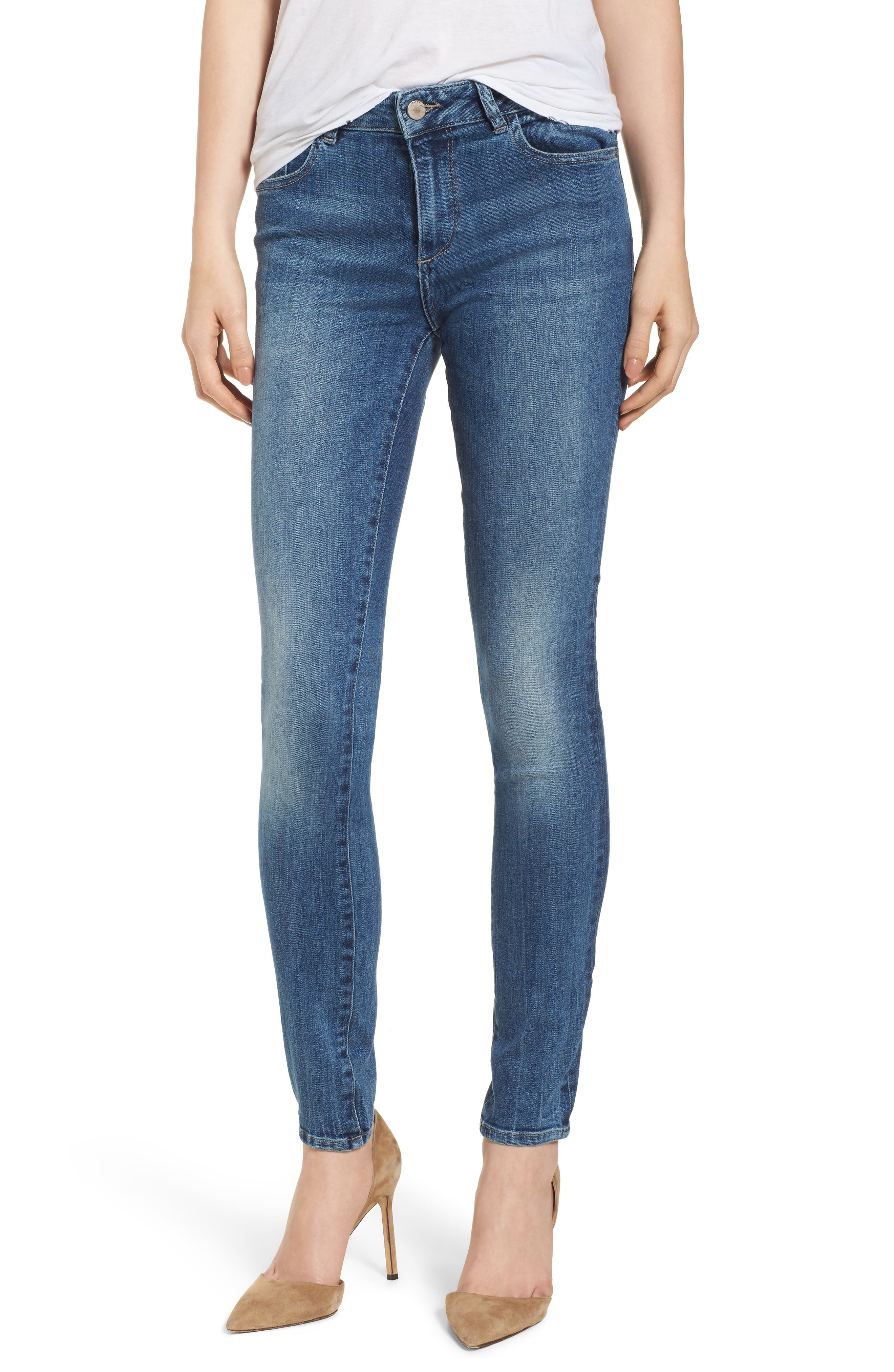 Florence Instasculpt Skinny Jeans,                             Main thumbnail 1, color,                             Wells