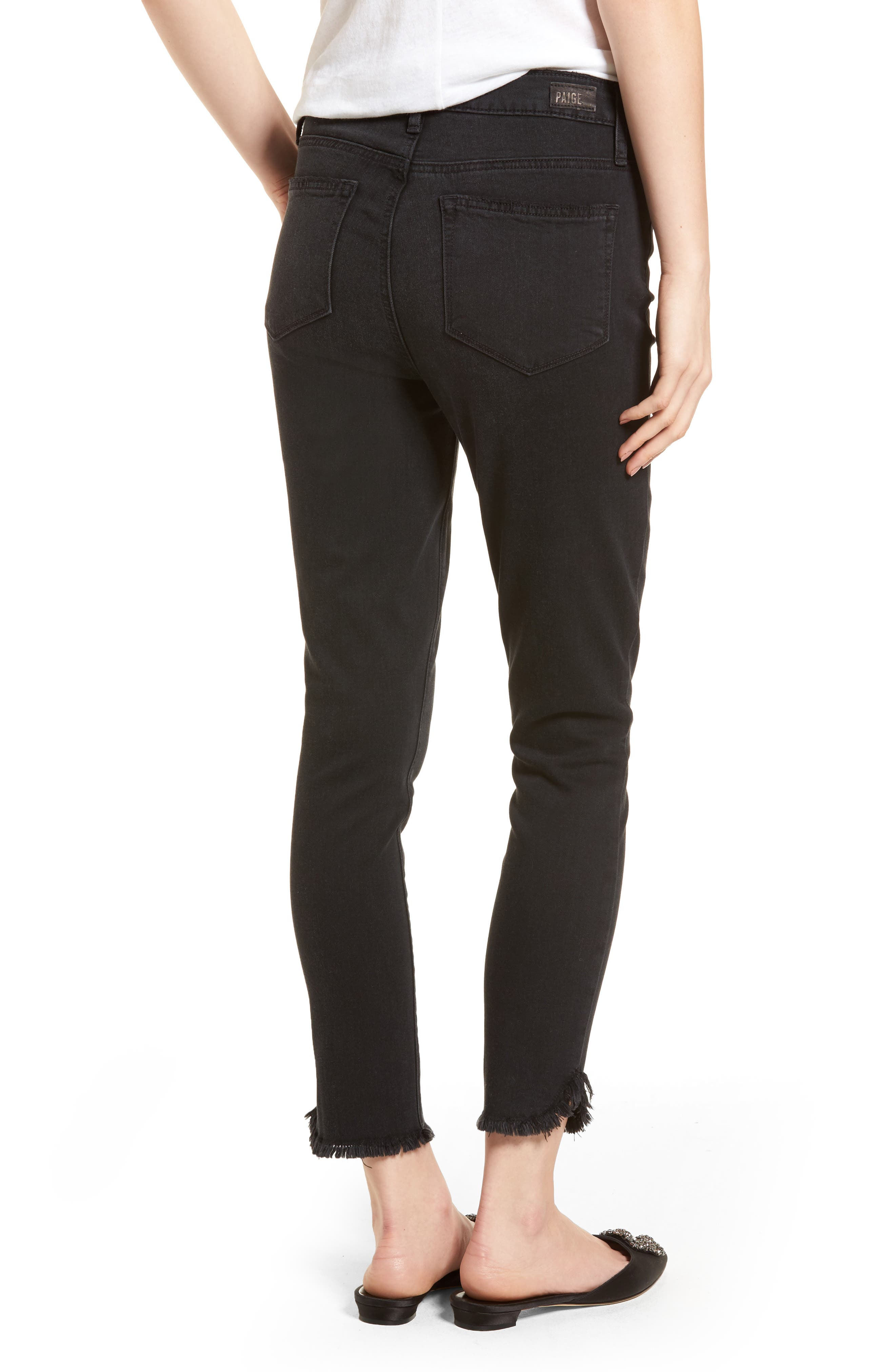 Transcend - Margot High Waist Crop Ultra Skinny Jeans,                             Alternate thumbnail 2, color,                             Draco