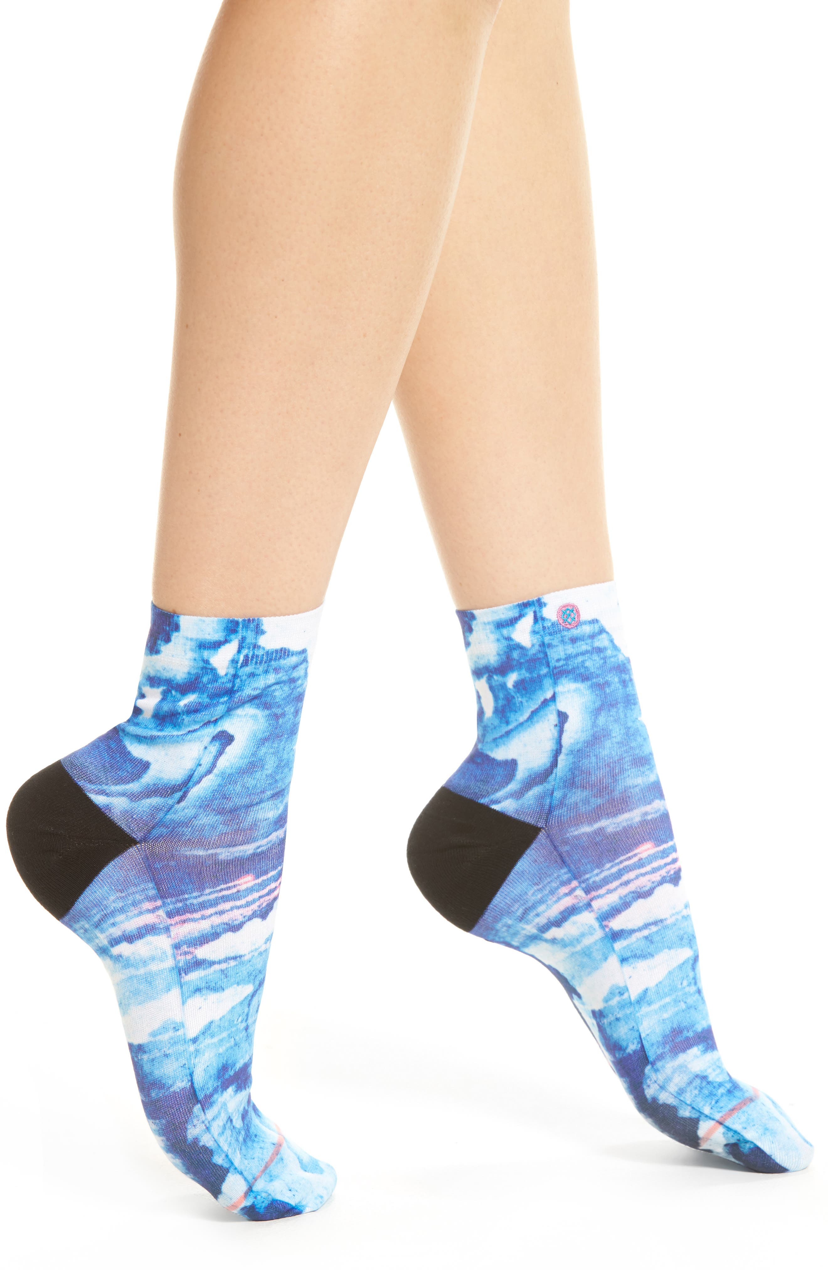 Tropic Storm Ankle Socks,                             Main thumbnail 1, color,                             Blue
