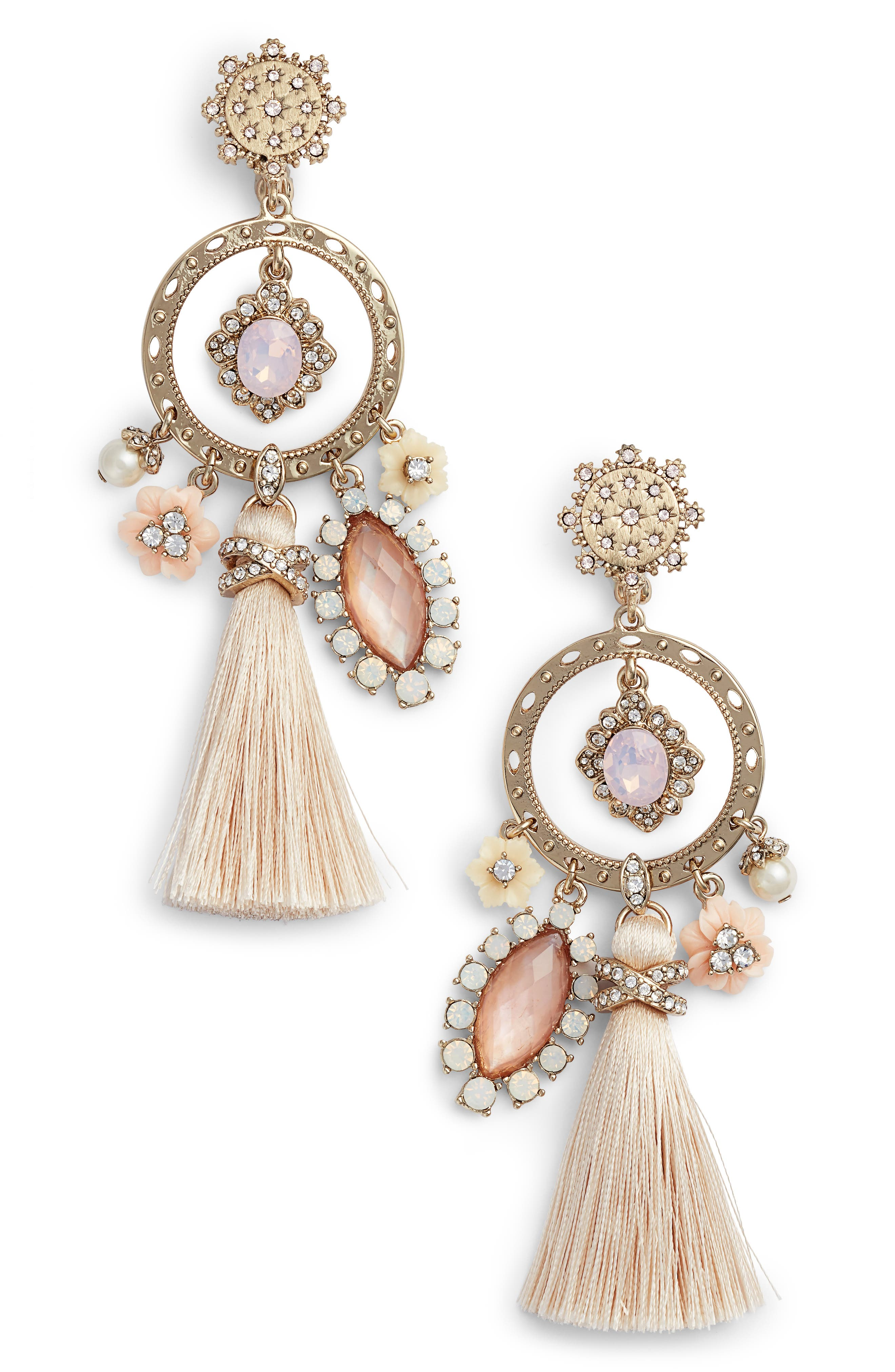 Marchesa Tassel Chandelier Earrings