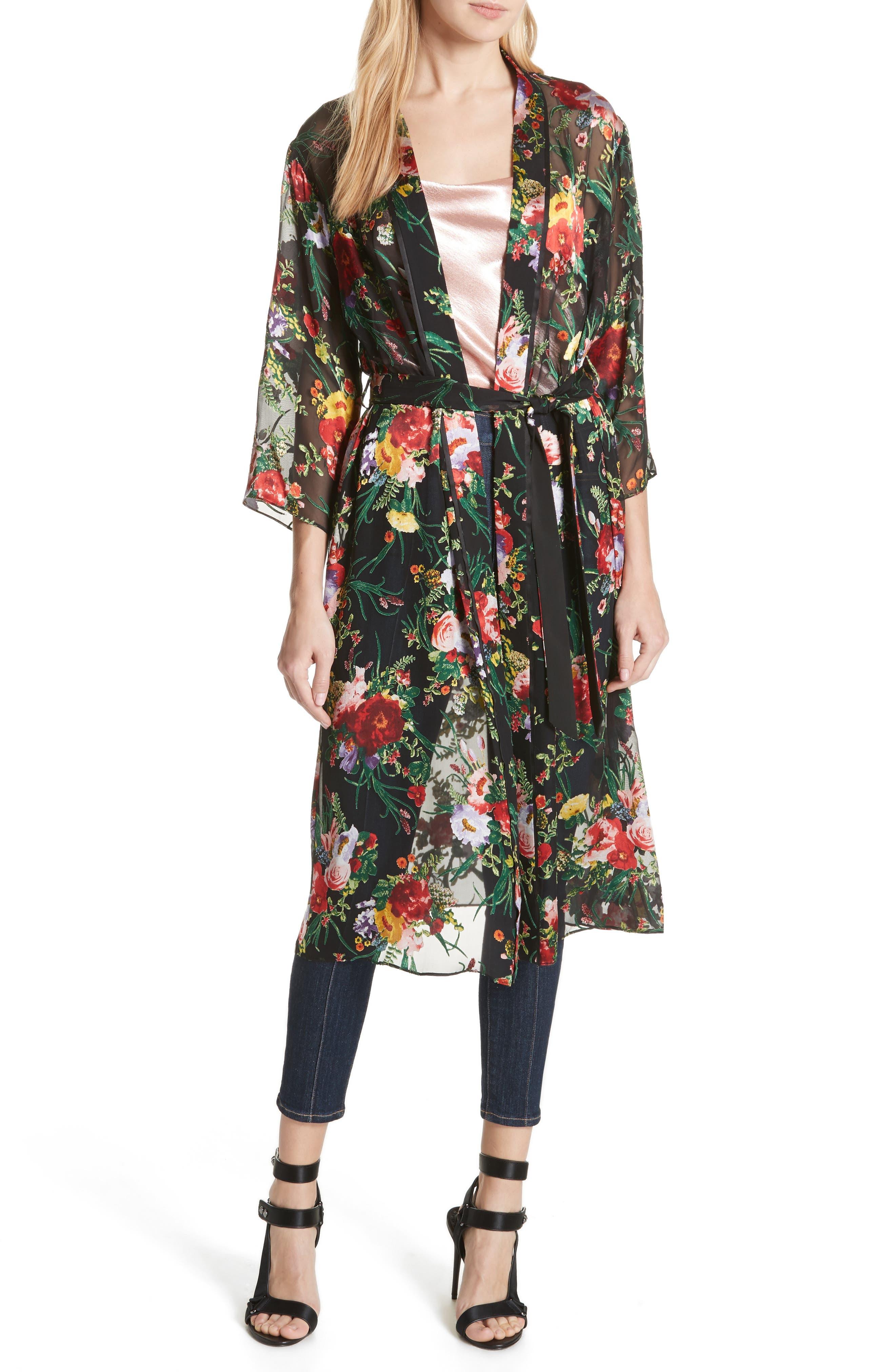 Alice + Olivia A+O Floral Robe Jacket