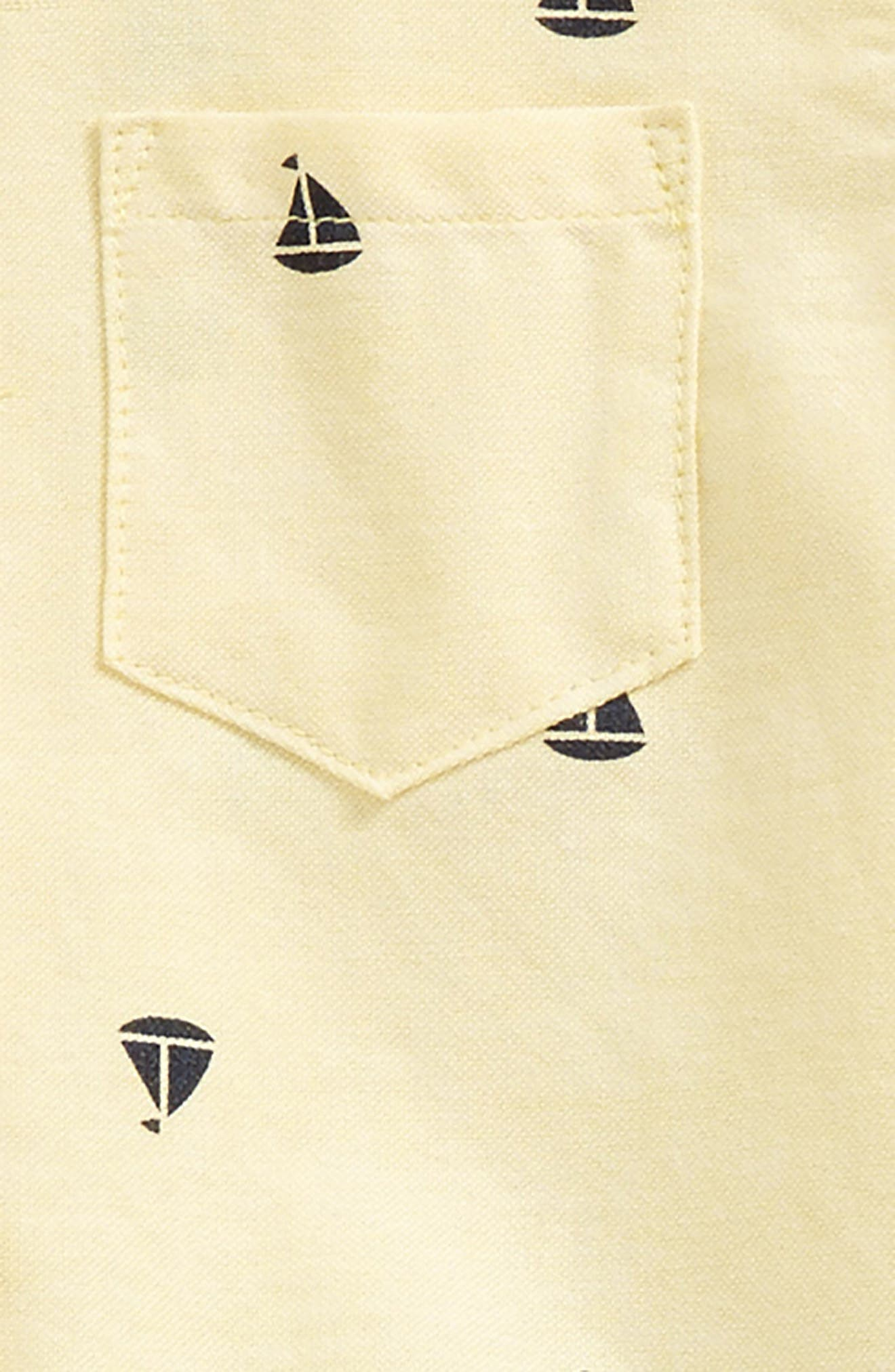 Sailboat Shirt, Pants & Bow Tie Set,                             Alternate thumbnail 2, color,                             Navy