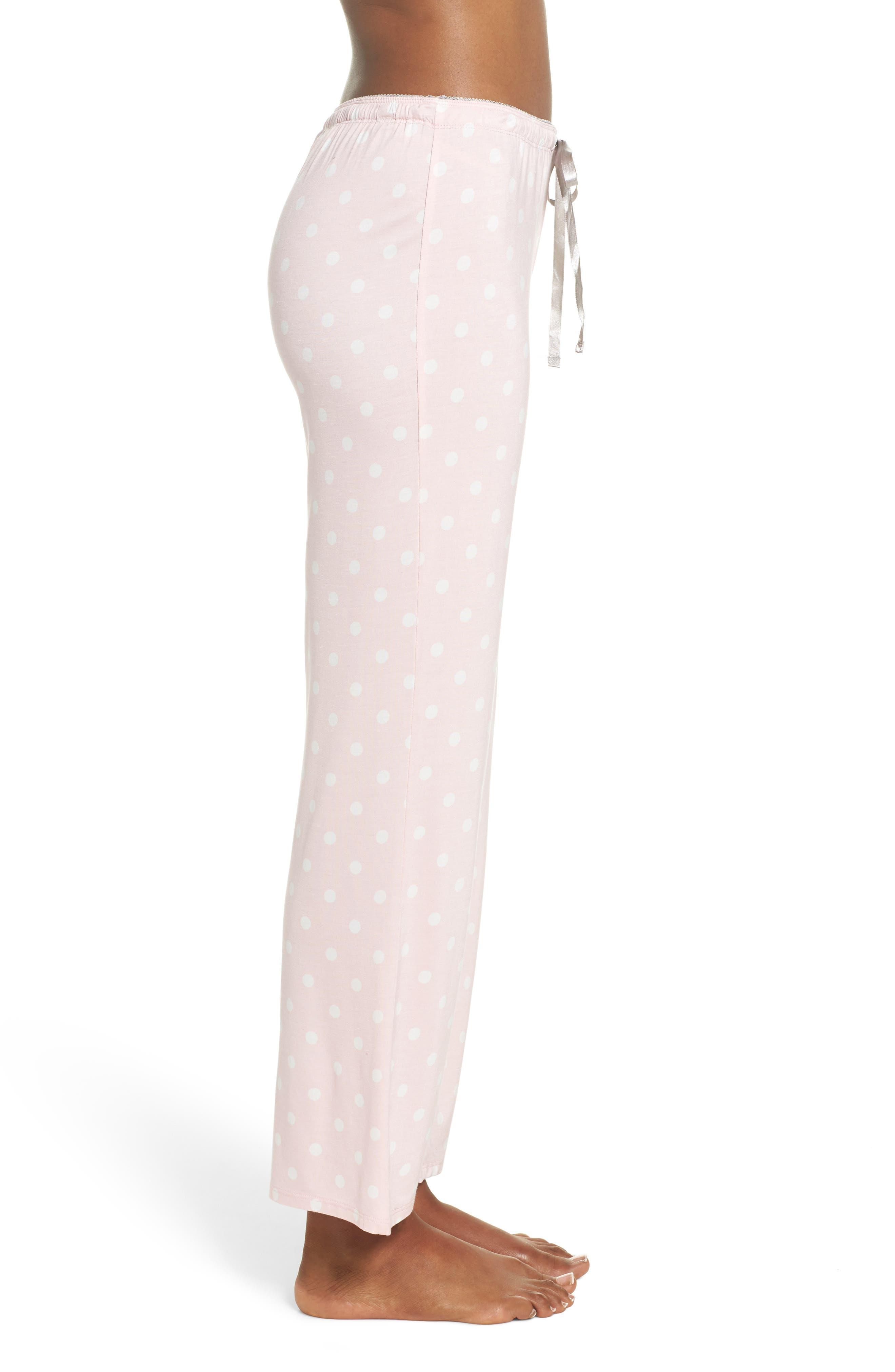 Drawstring Pajama Pants,                             Alternate thumbnail 3, color,                             Pink
