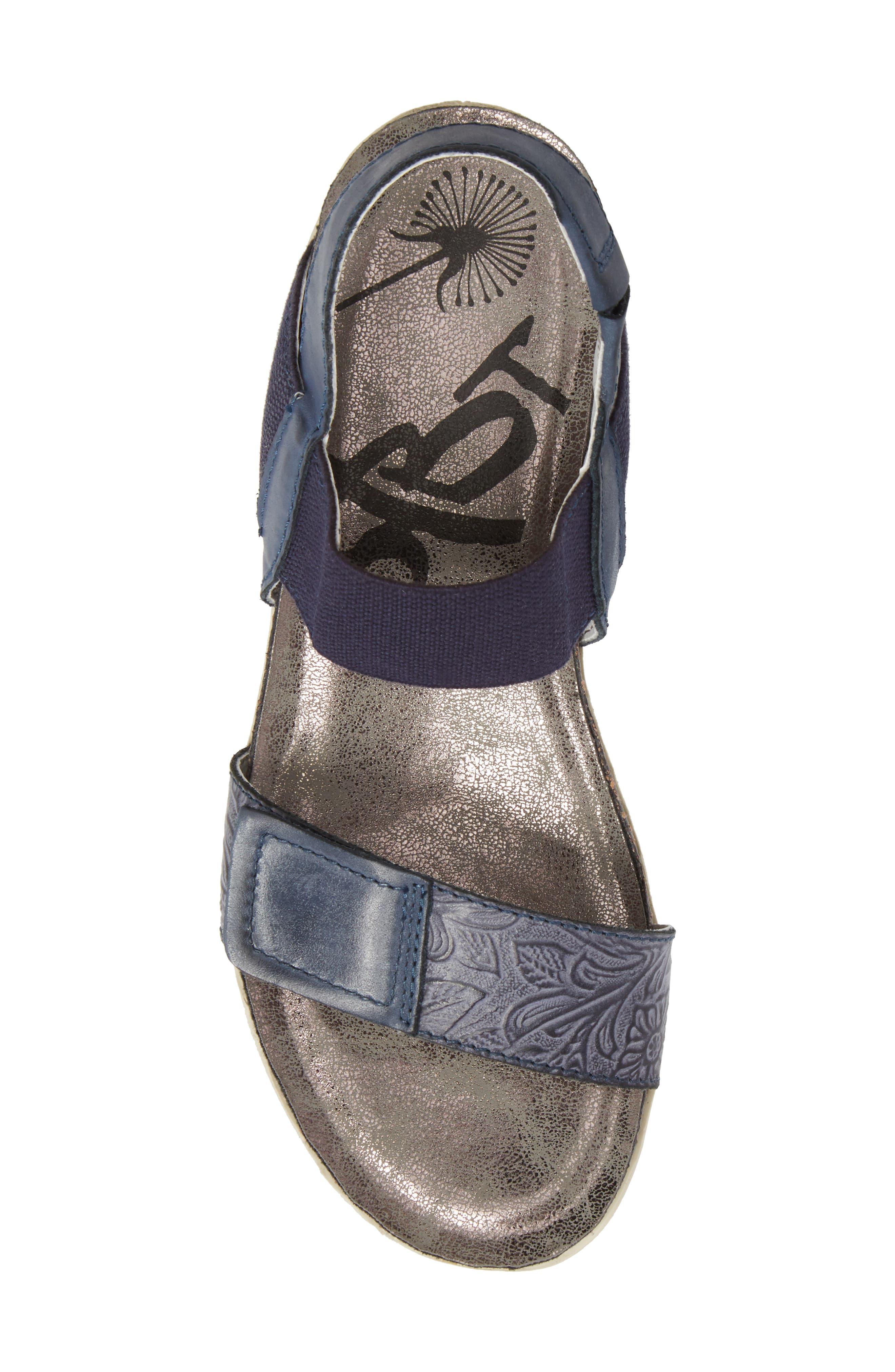 Nova Platform Sandal,                             Alternate thumbnail 5, color,                             Navy Leather