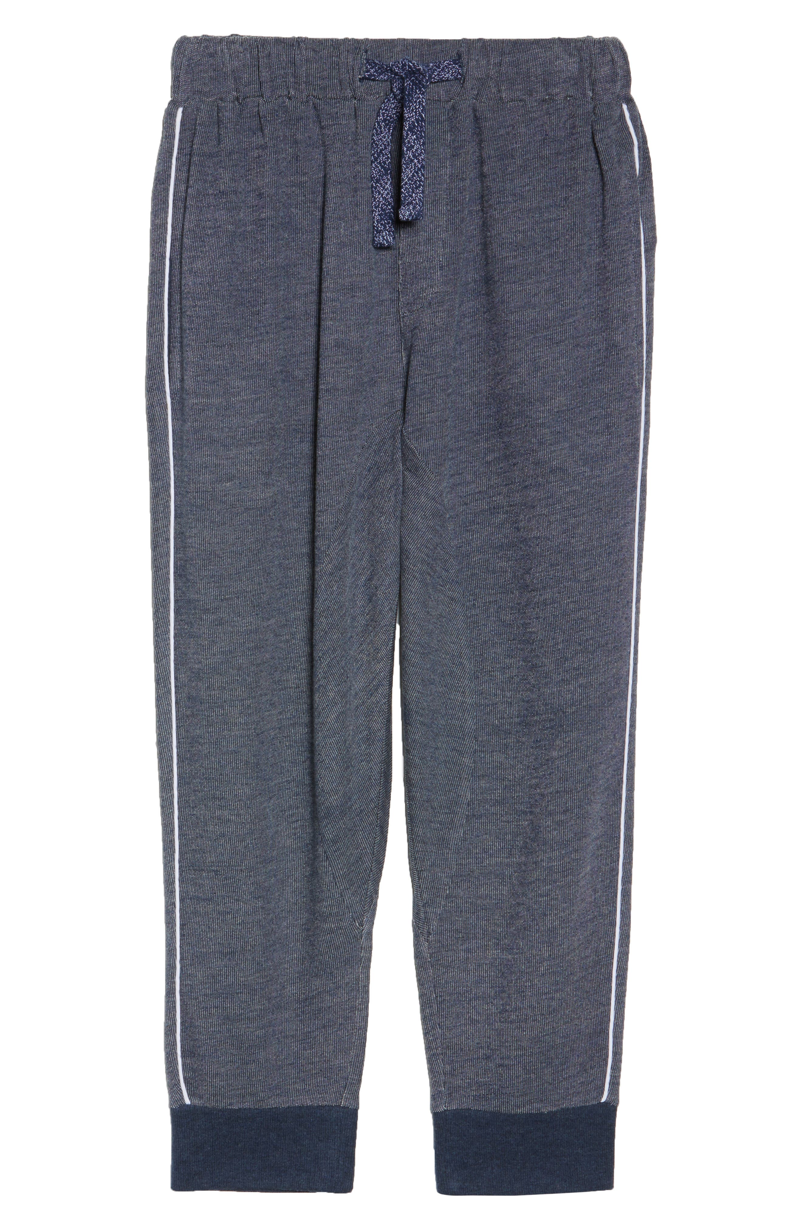 Steff Crop Lounge Pants,                             Alternate thumbnail 4, color,                             Midnight Marle