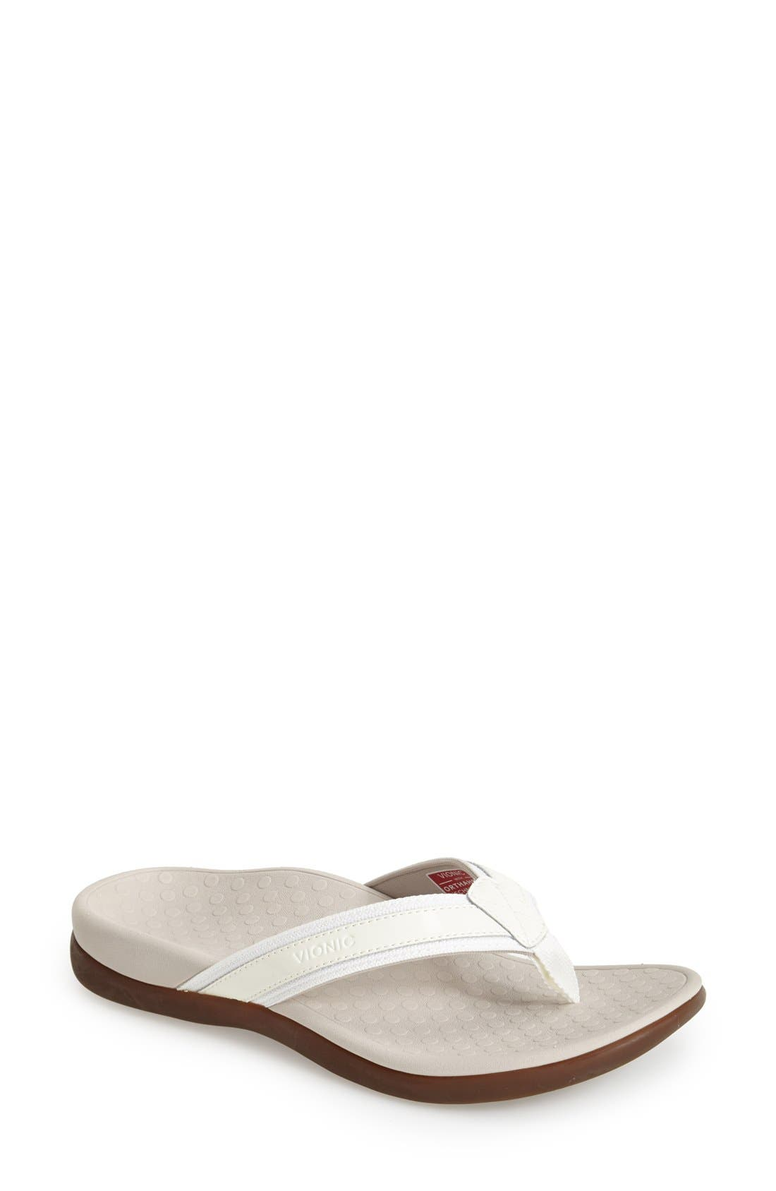 'Tide II' Flip Flop,                         Main,                         color, White