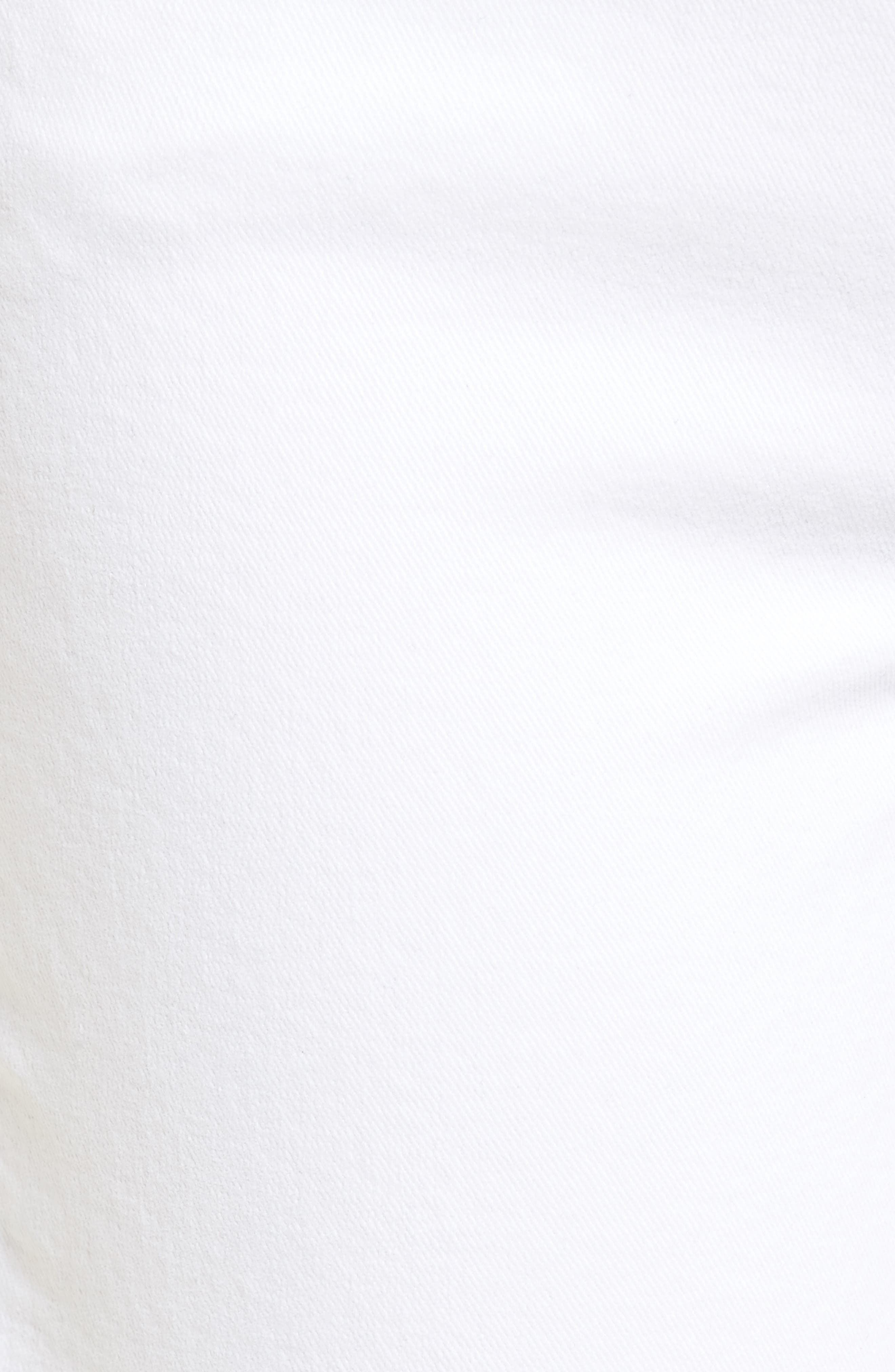 Verdugo Crop Ultra Skinny Jeans,                             Alternate thumbnail 6, color,                             Crisp White