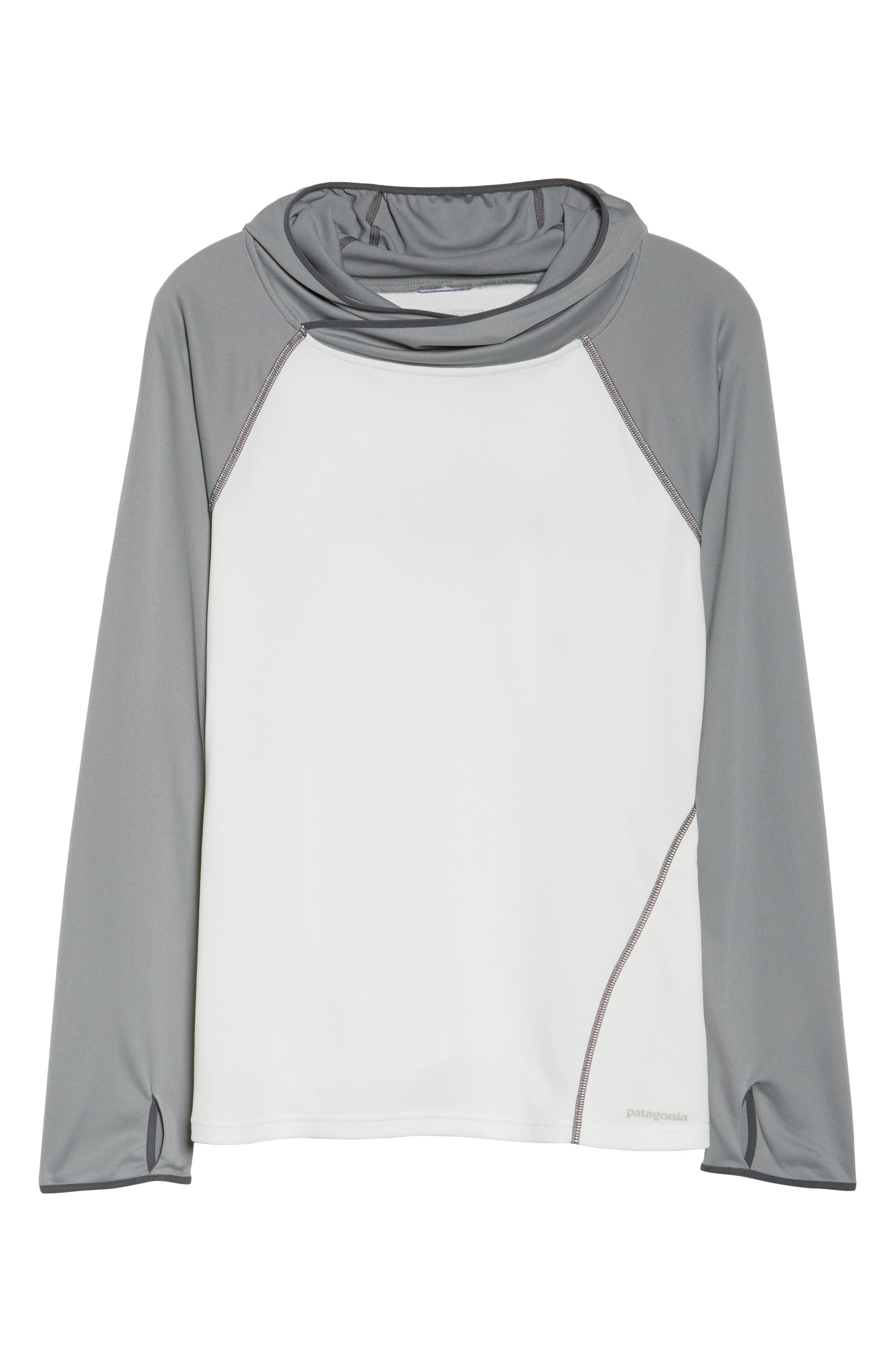 Sunshade Hoodie,                             Alternate thumbnail 7, color,                             Birch White