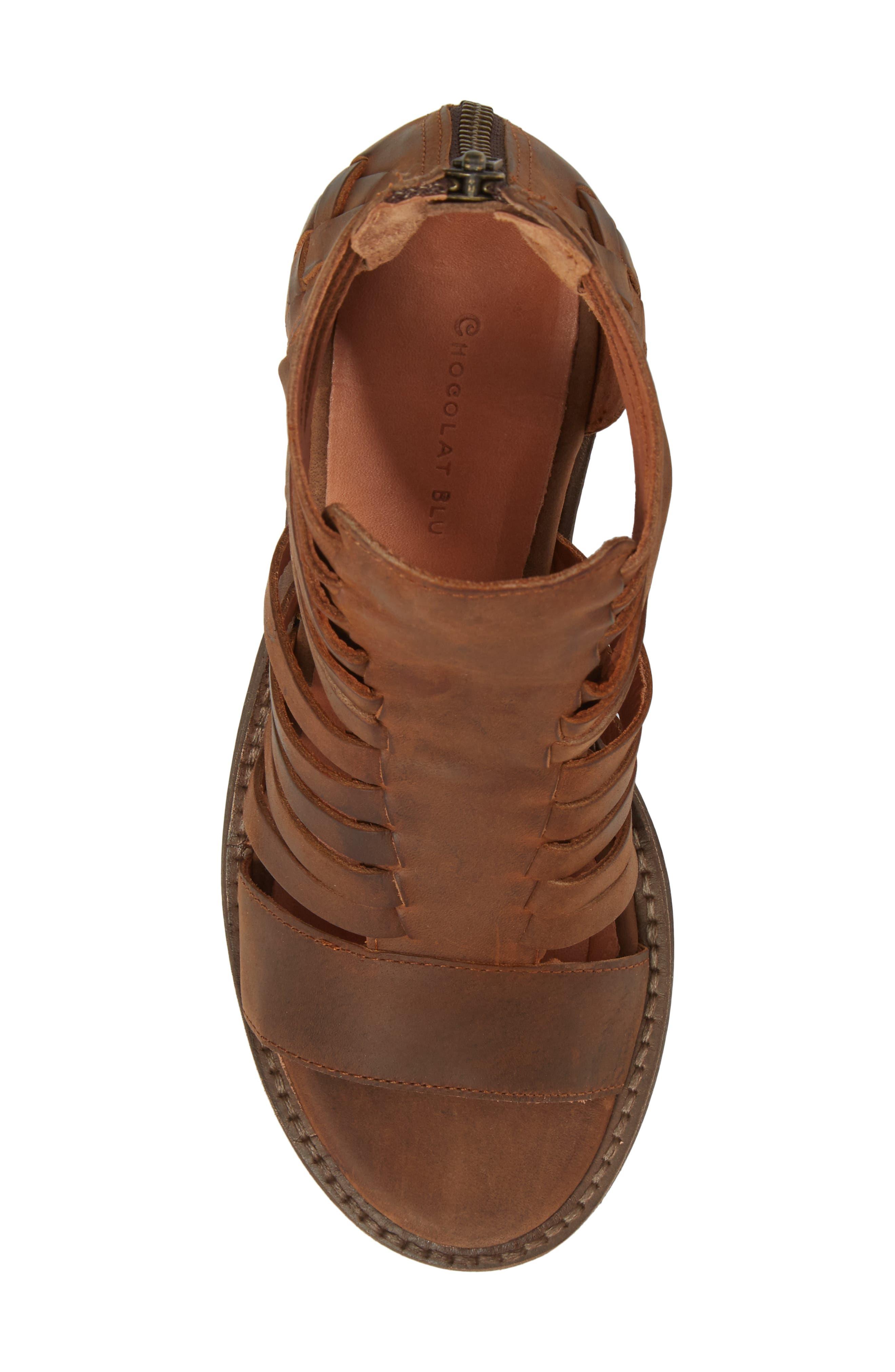 Felice Sandal,                             Alternate thumbnail 5, color,                             Brown Leather