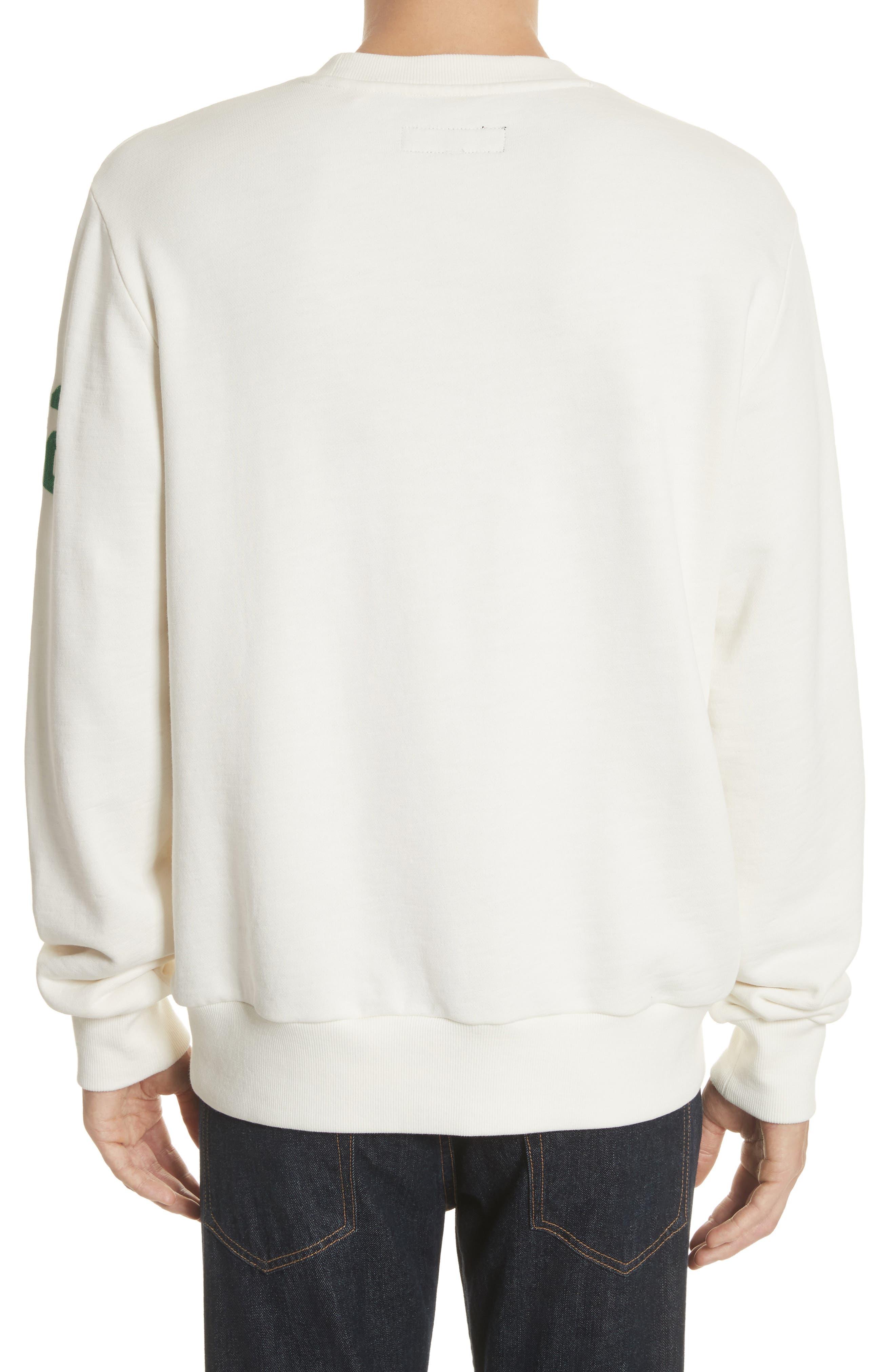Alternate Image 2  - rag & bone Japan Embroidered Crewneck Sweatshirt