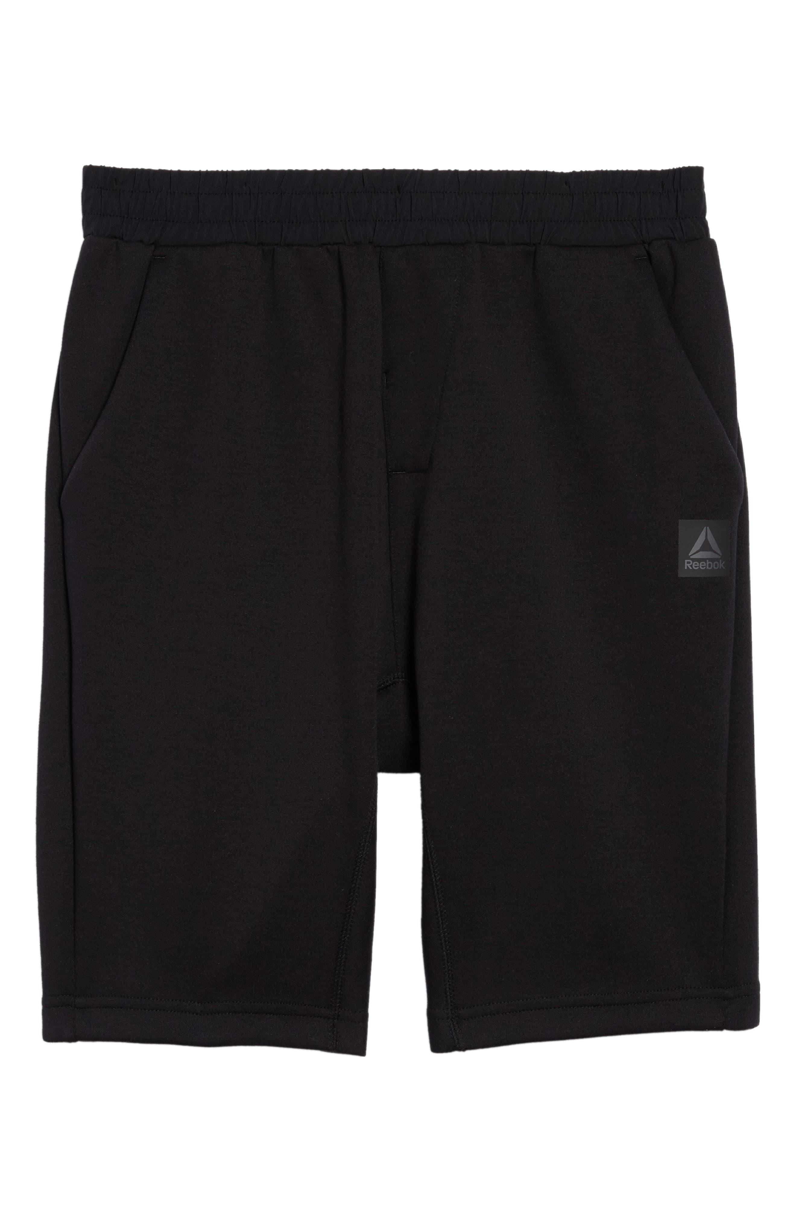 TS Knit Shorts,                             Alternate thumbnail 6, color,                             Black