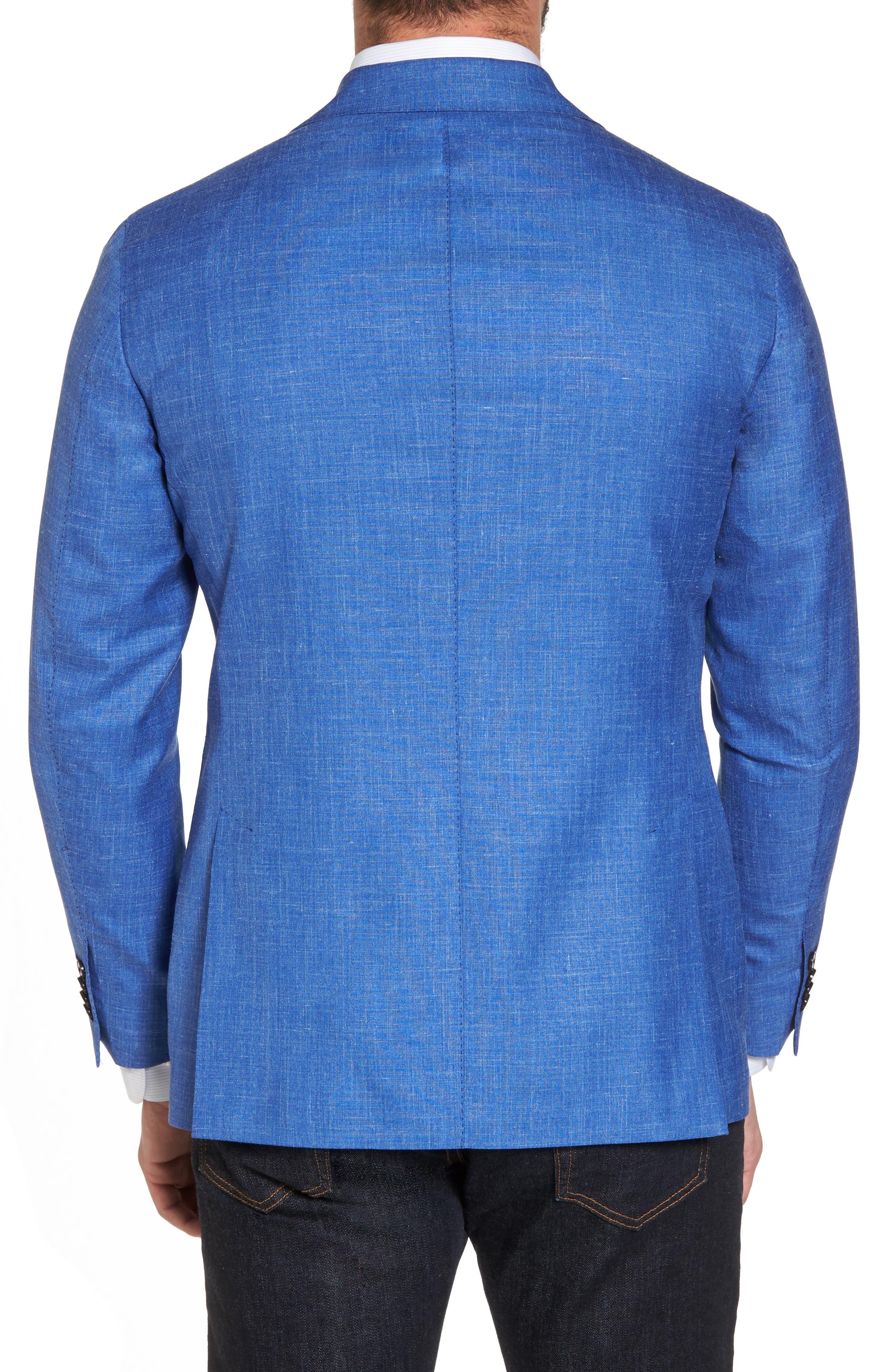 Classic Fit Wool Blend Blazer,                             Alternate thumbnail 2, color,                             Navy