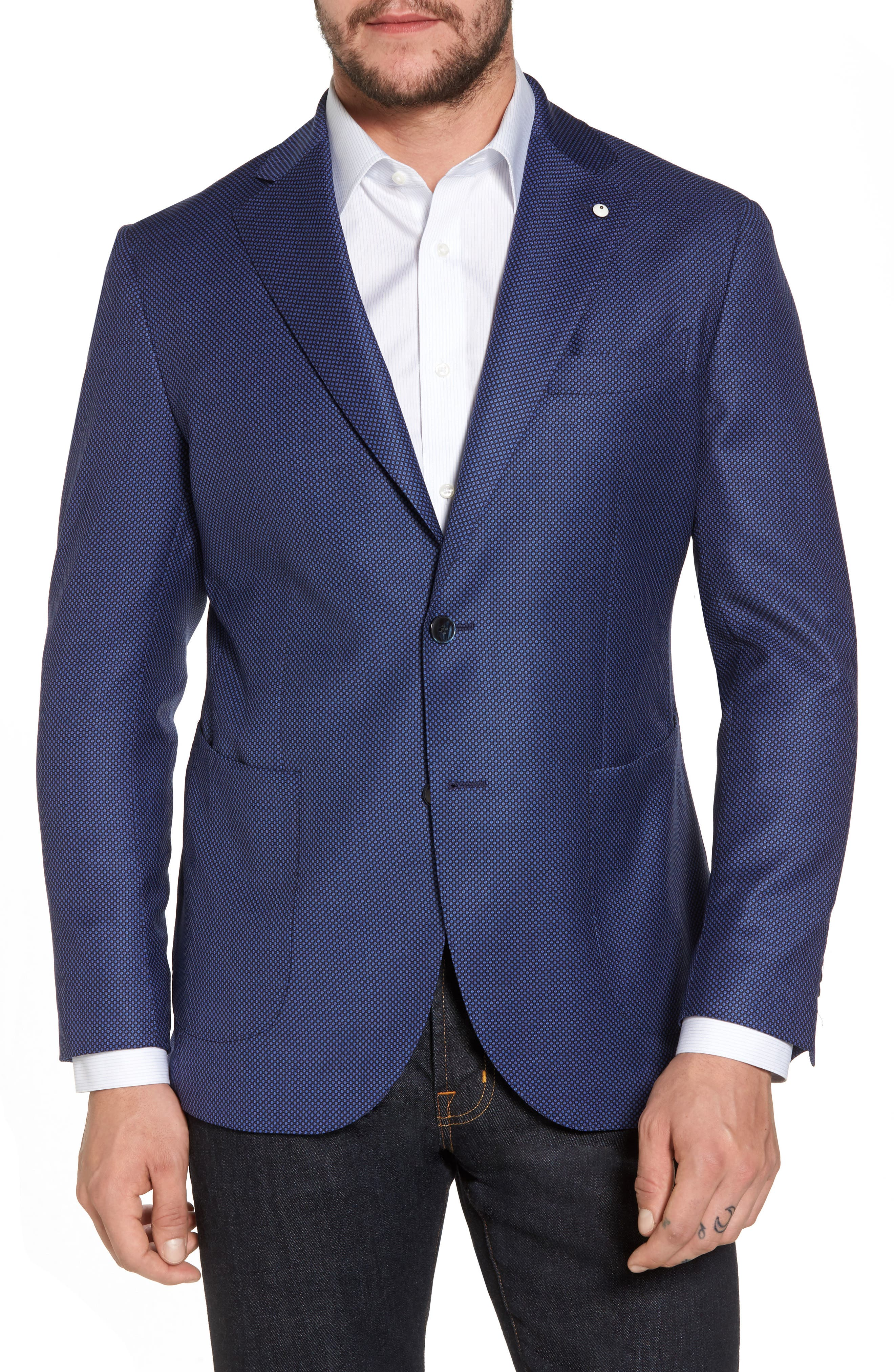 Alternate Image 1 Selected - L.B.M. 1911 Classic Fit Wool Blazer