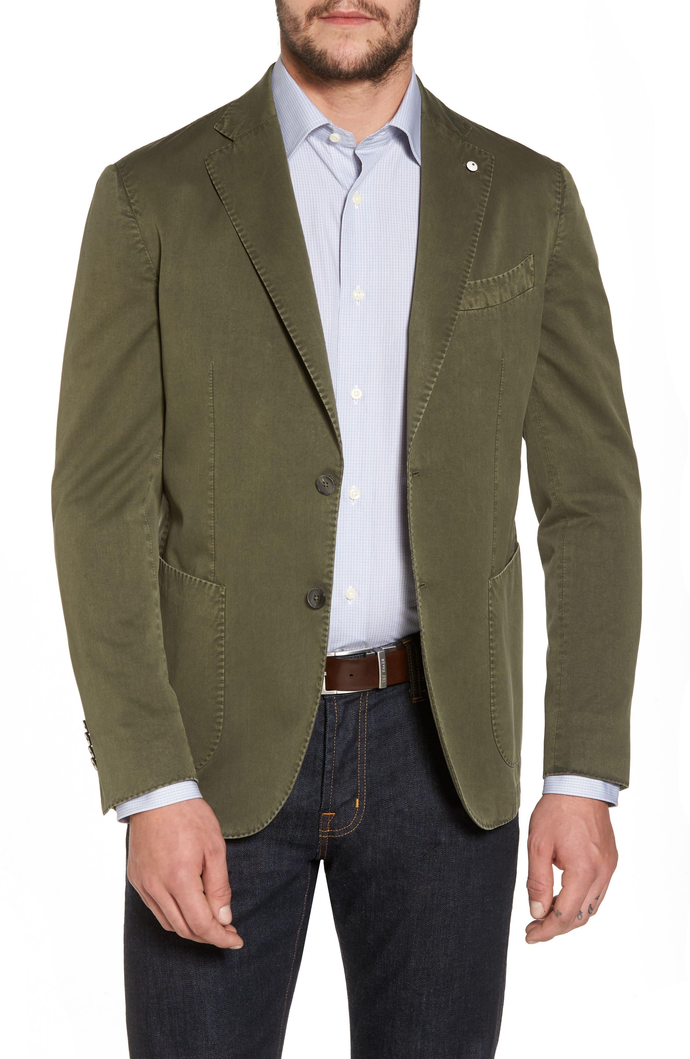 Classic Fit Cotton & Silk Blazer,                         Main,                         color, Light/ Pastel Green