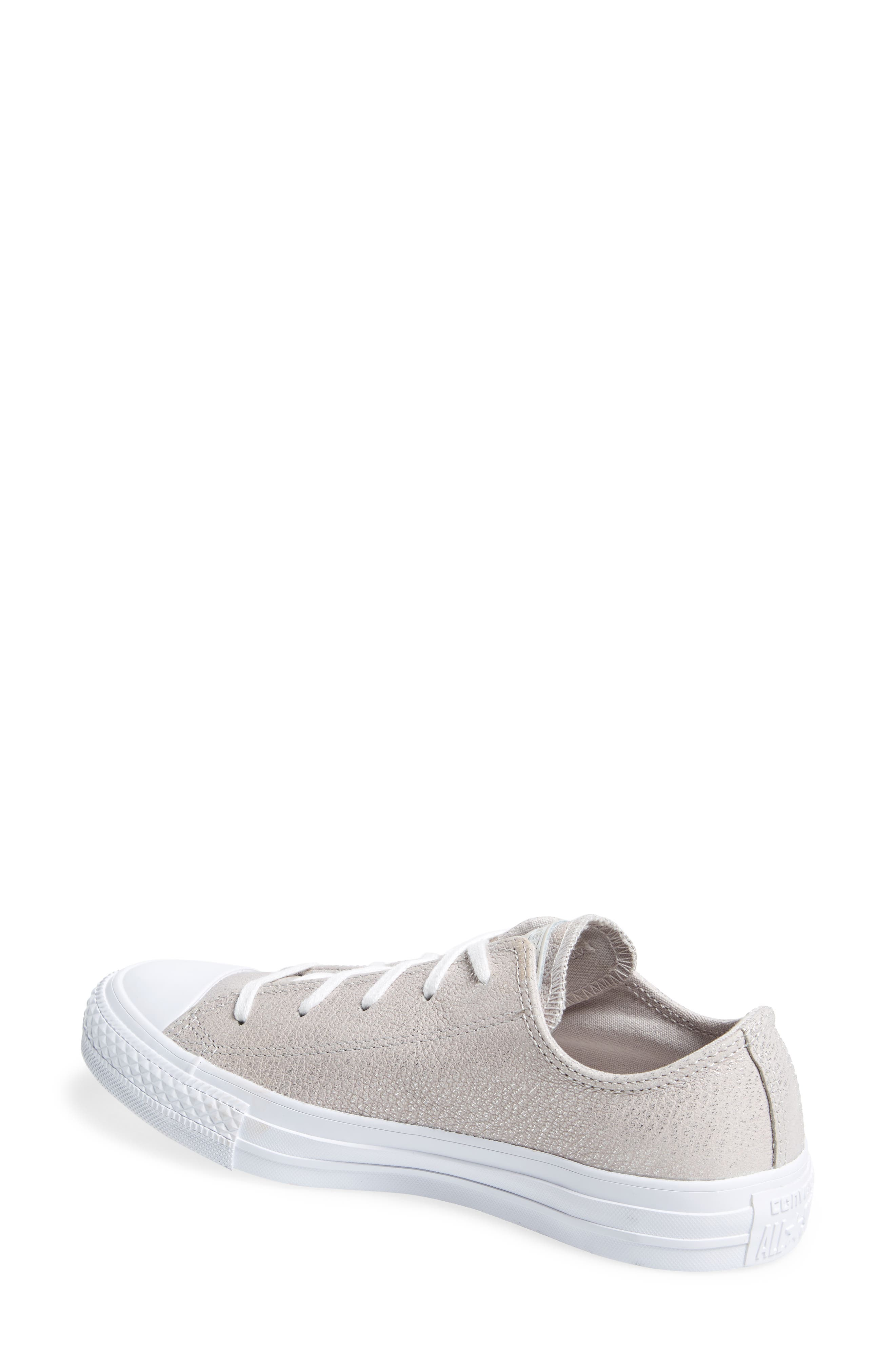Chuck Taylor<sup>®</sup> All Star<sup>®</sup> Tipped Metallic Low Top Sneaker,                             Alternate thumbnail 2, color,                             Pale Putty