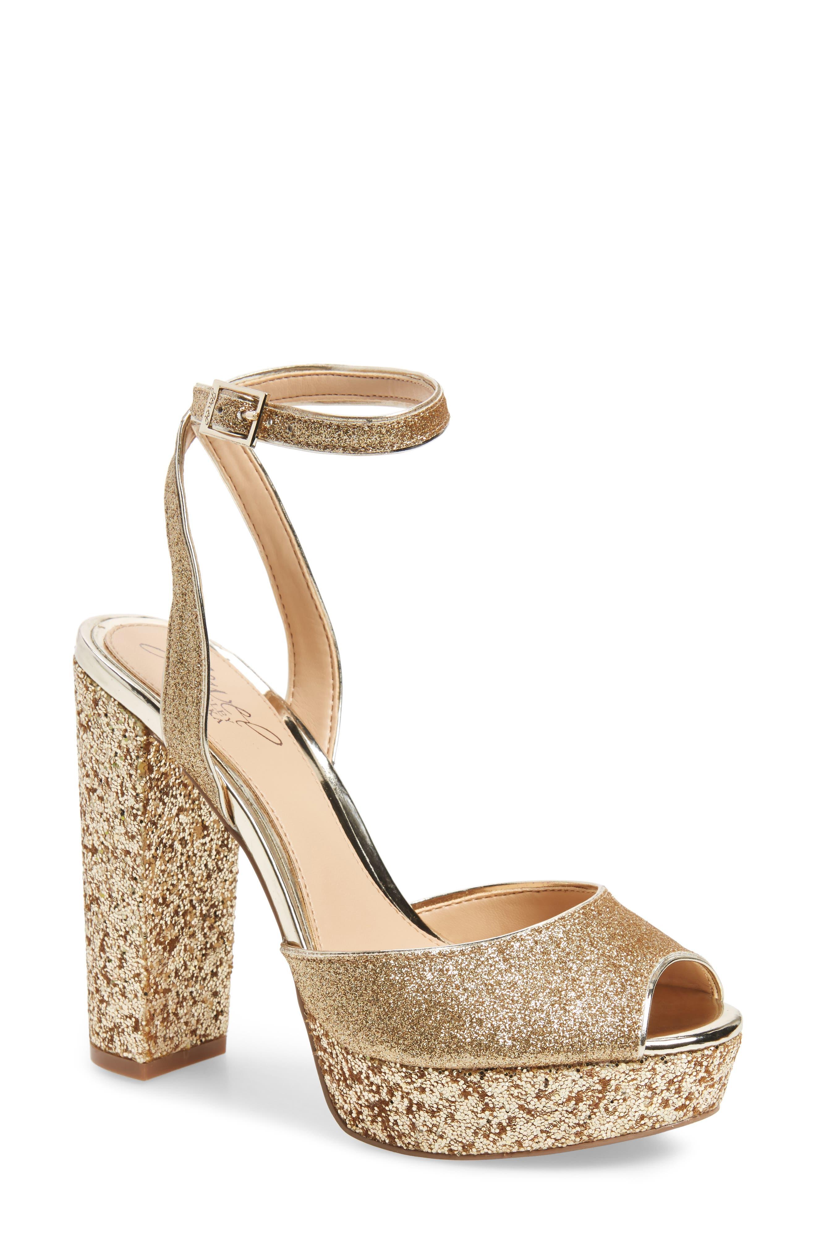 Jewel Badgley Mischka Luke Platform Sandal (Women)