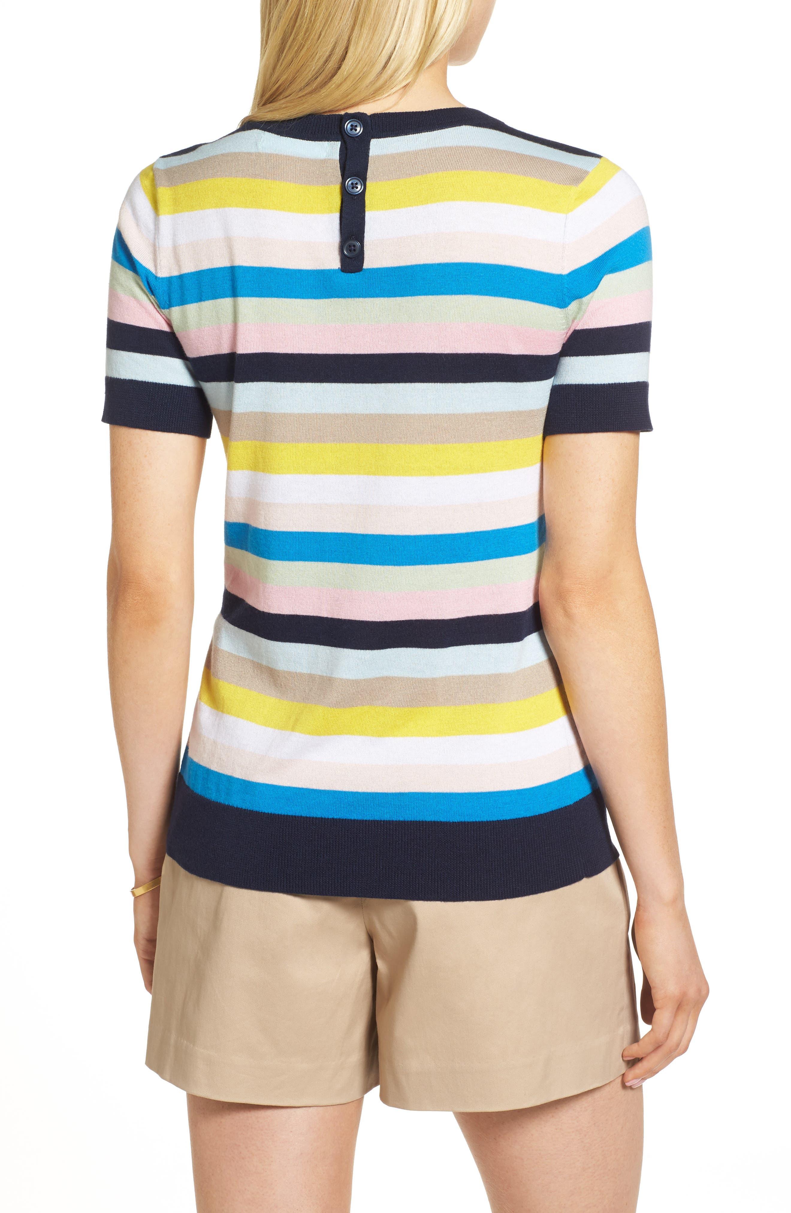 Crewneck Sweater,                             Alternate thumbnail 2, color,                             Blue Multi Stripe