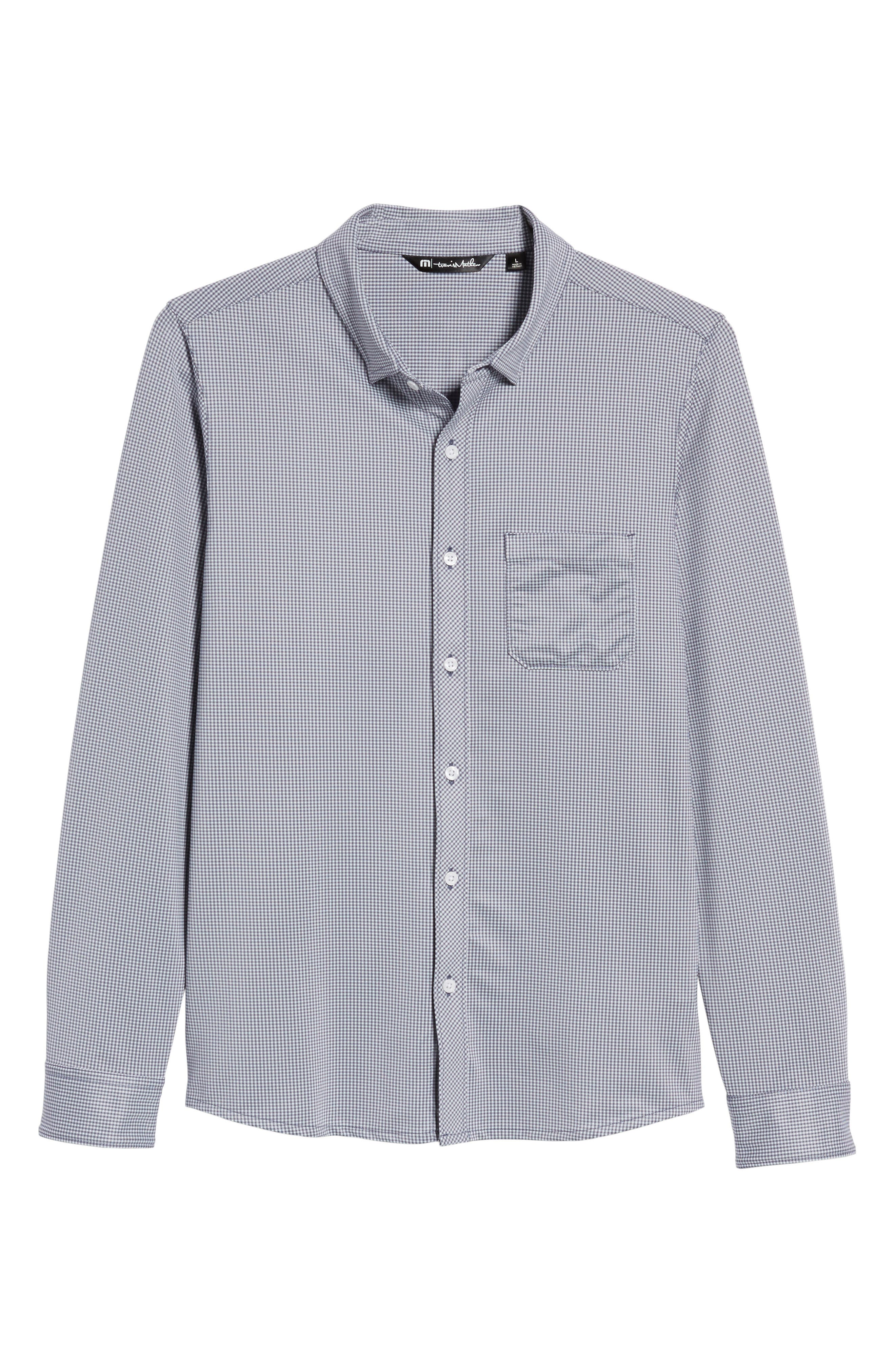 Couig Gingham Sport Shirt,                             Alternate thumbnail 6, color,                             White/ Grisaille
