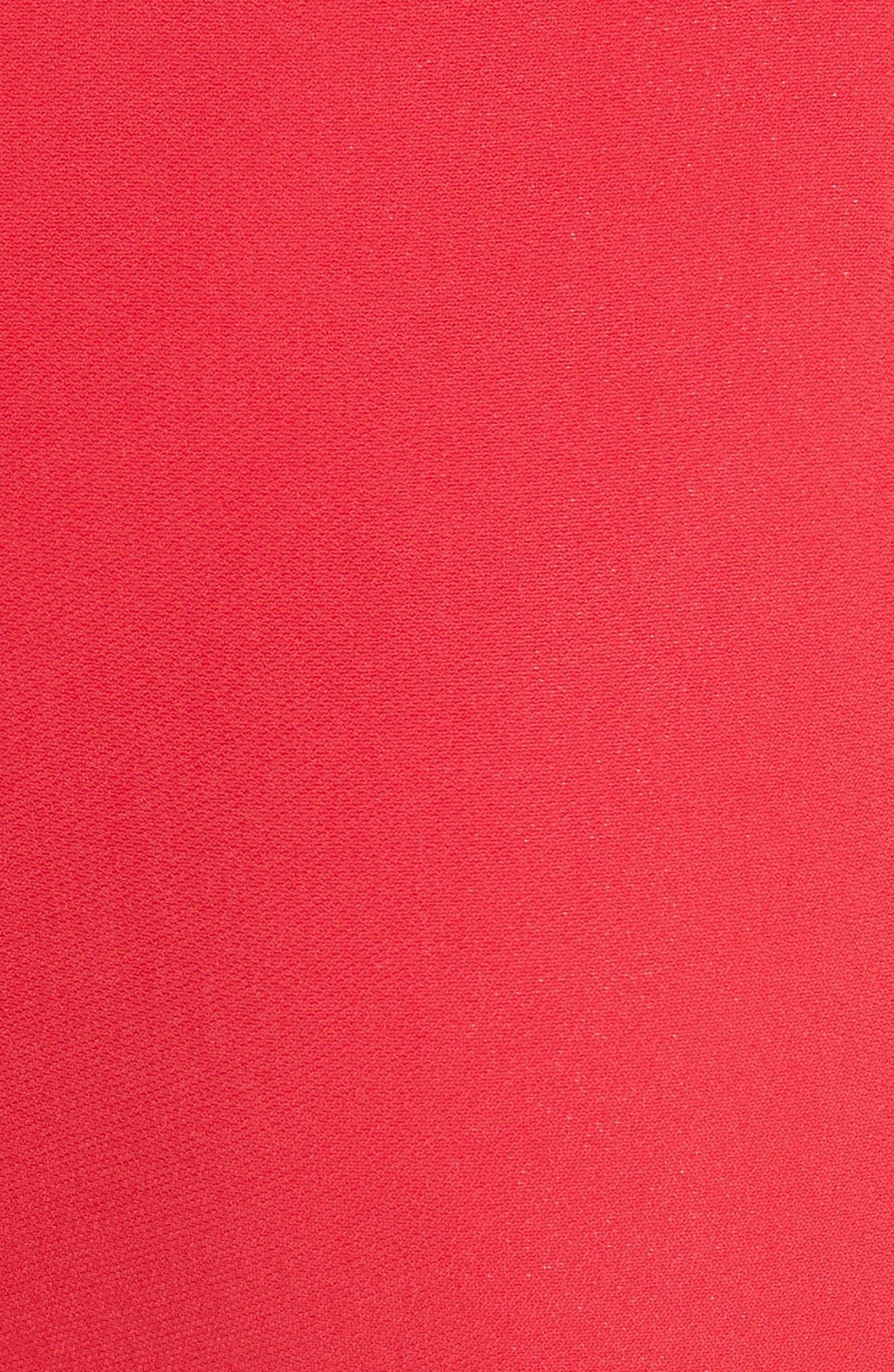 Wide Leg Crepe Pants,                             Alternate thumbnail 5, color,                             Red