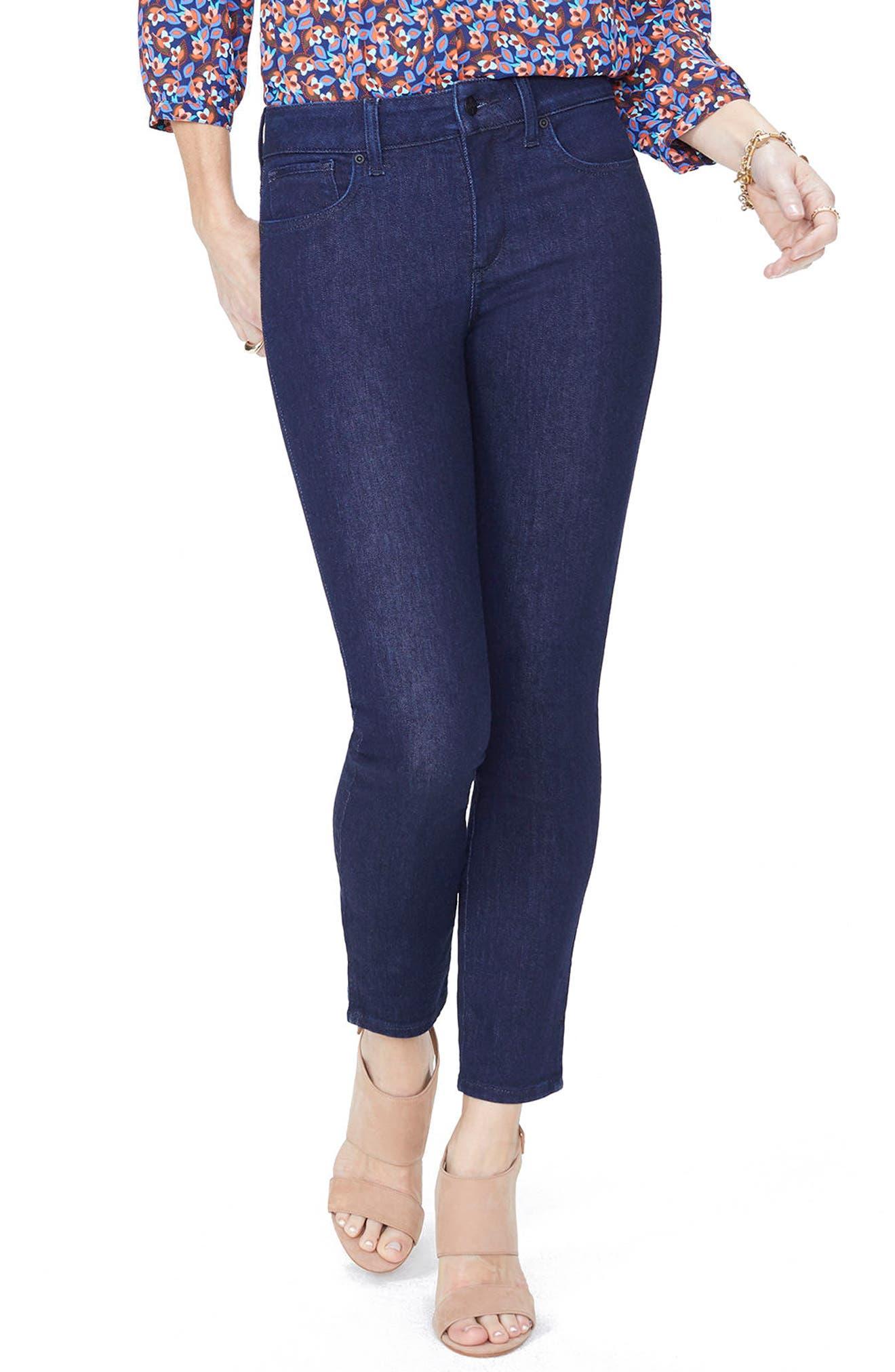 NYDJ Ami Side Slit Stretch Ankle Skinny Jeans (Regular & Petite)  (Rinse)