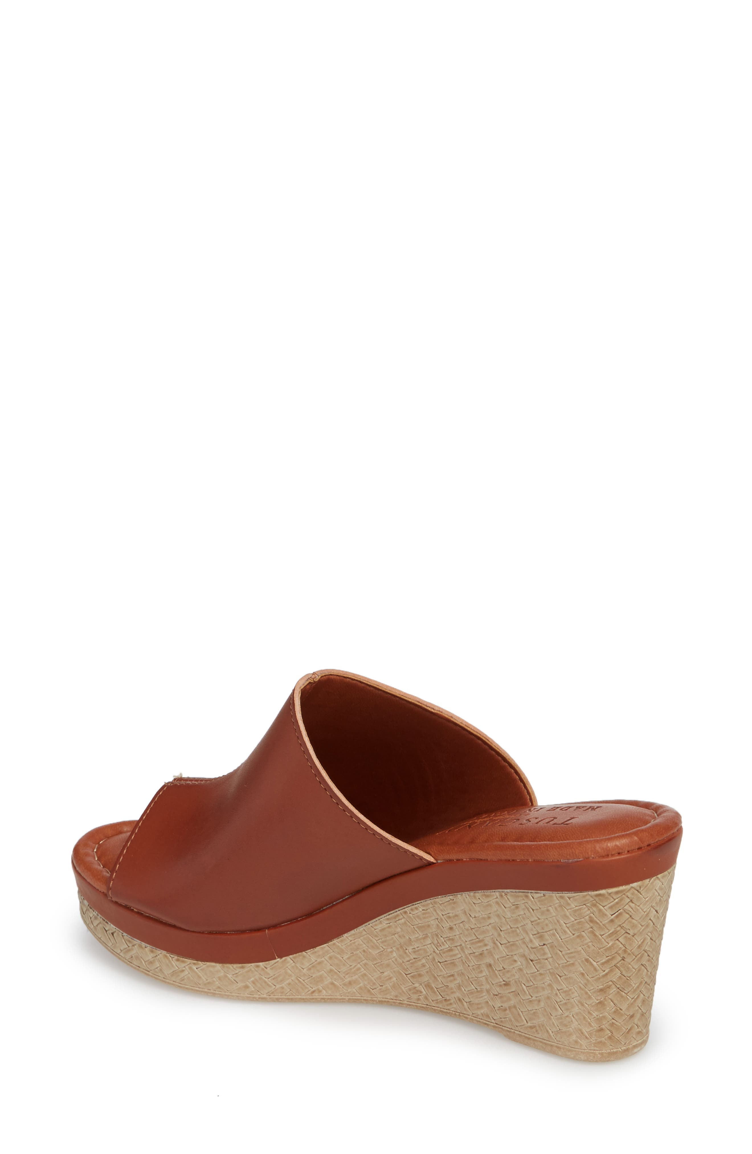 by Easy Street<sup>®</sup> Octavia Espadrille Wedge,                             Alternate thumbnail 2, color,                             Cognac Faux Leather