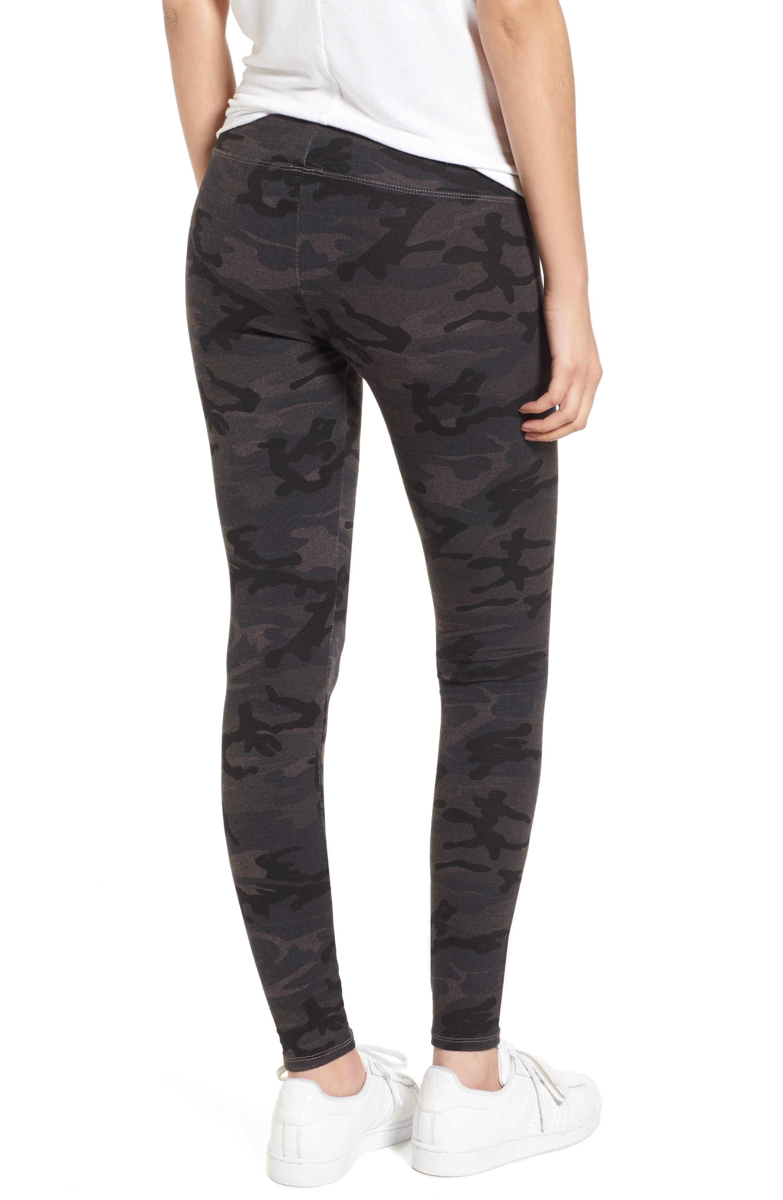 Camo Yoga Pants,                             Alternate thumbnail 2, color,                             Charcoal