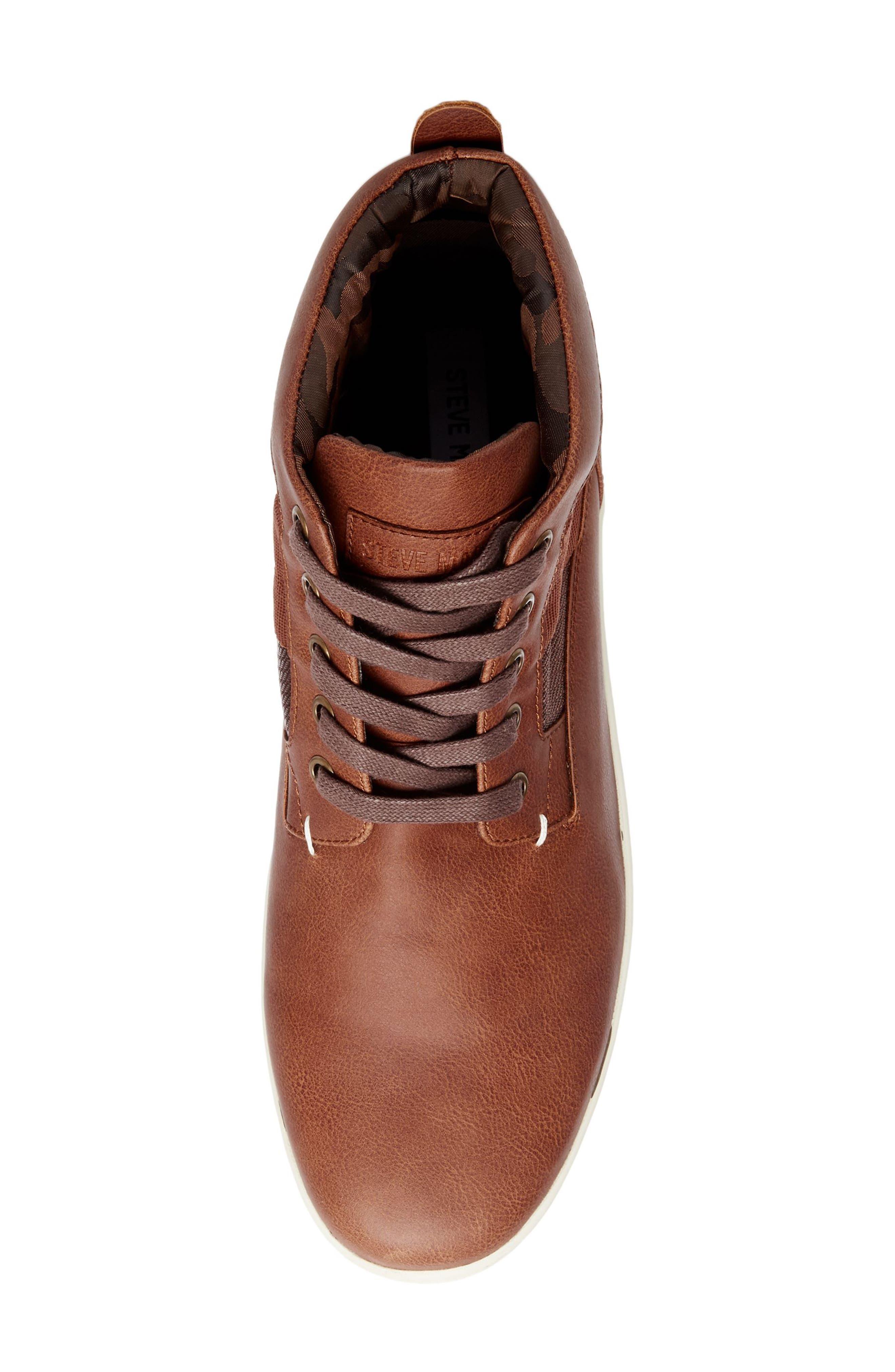 Frazier Sneaker Boot,                             Alternate thumbnail 5, color,                             Cognac