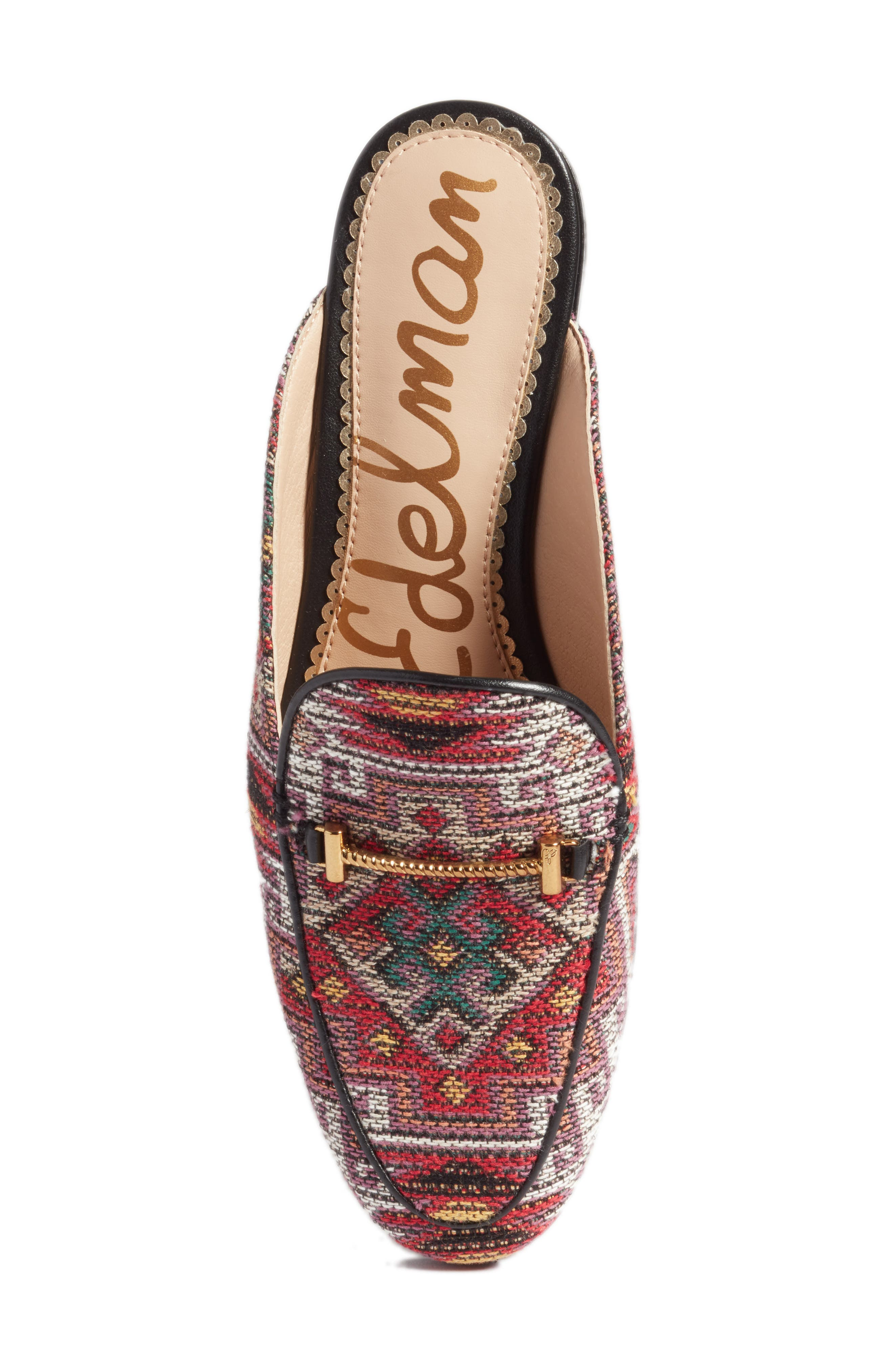 Laurna Mule,                             Alternate thumbnail 6, color,                             Red Multi Fabric