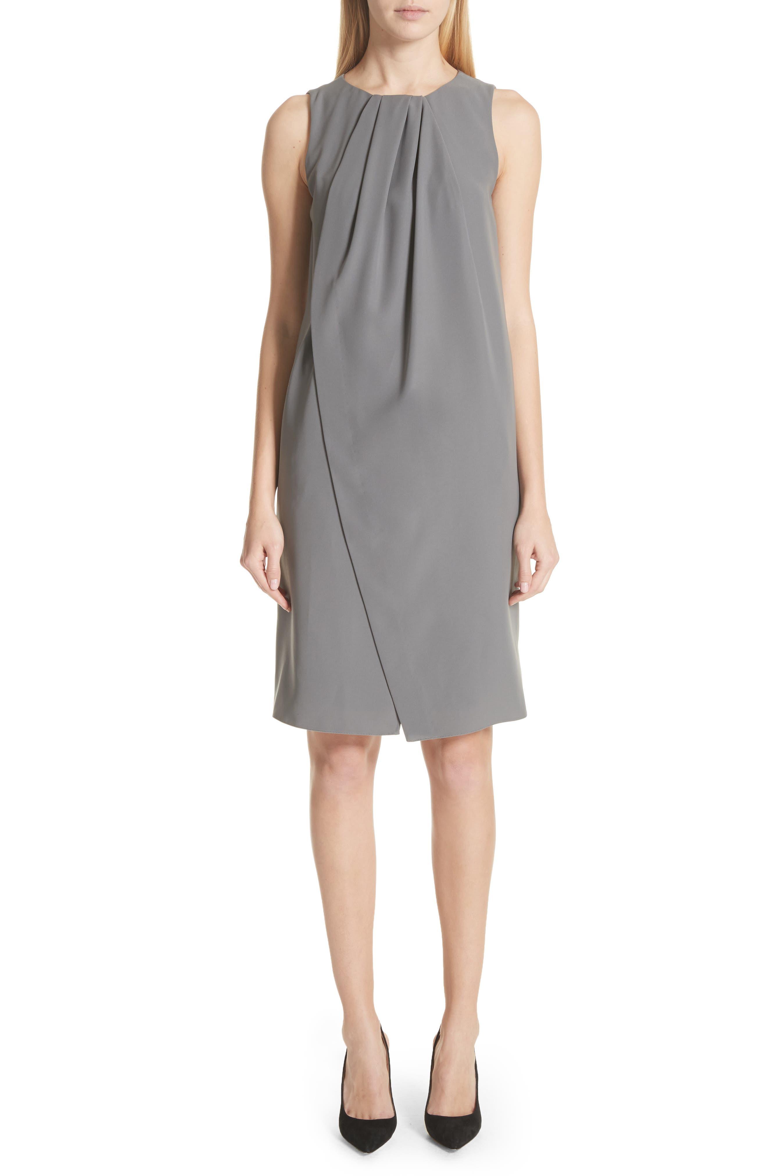 Emporio Armani Draped Cady Shift Dress