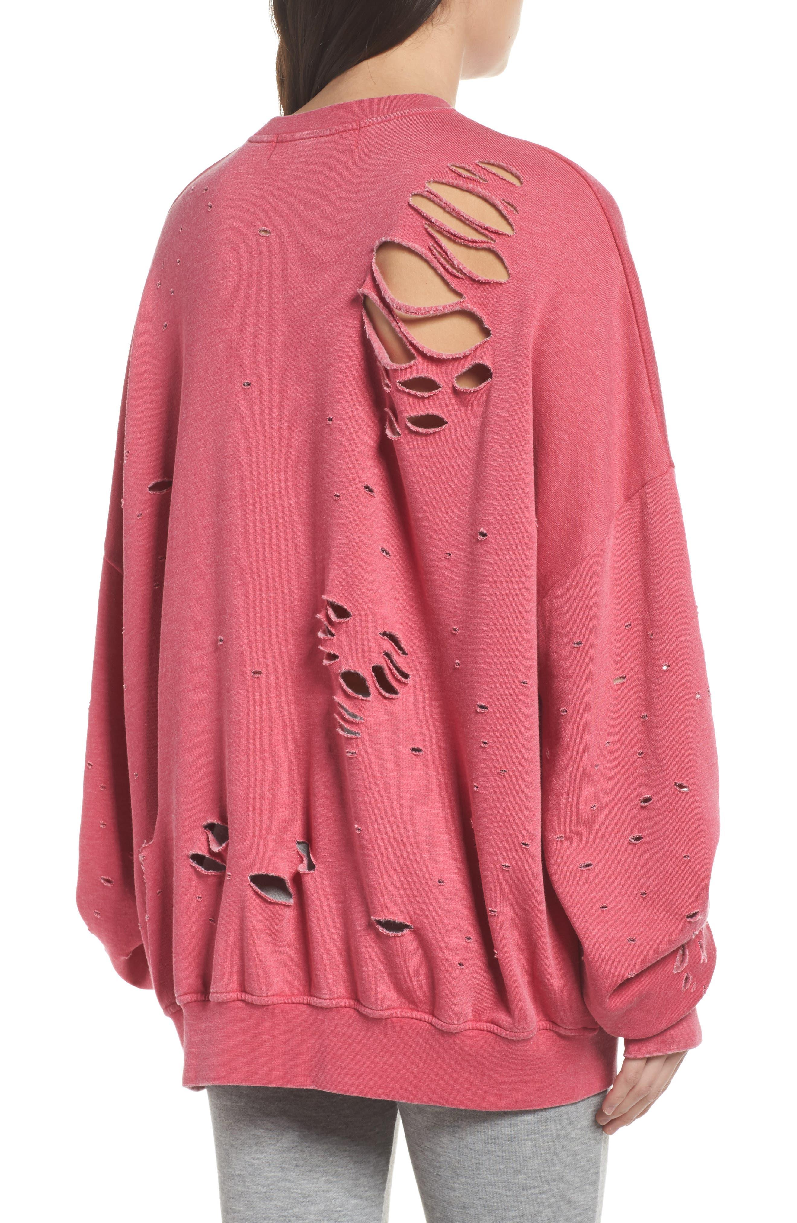 Thrasher Sweatshirt,                             Alternate thumbnail 2, color,                             Flamingo