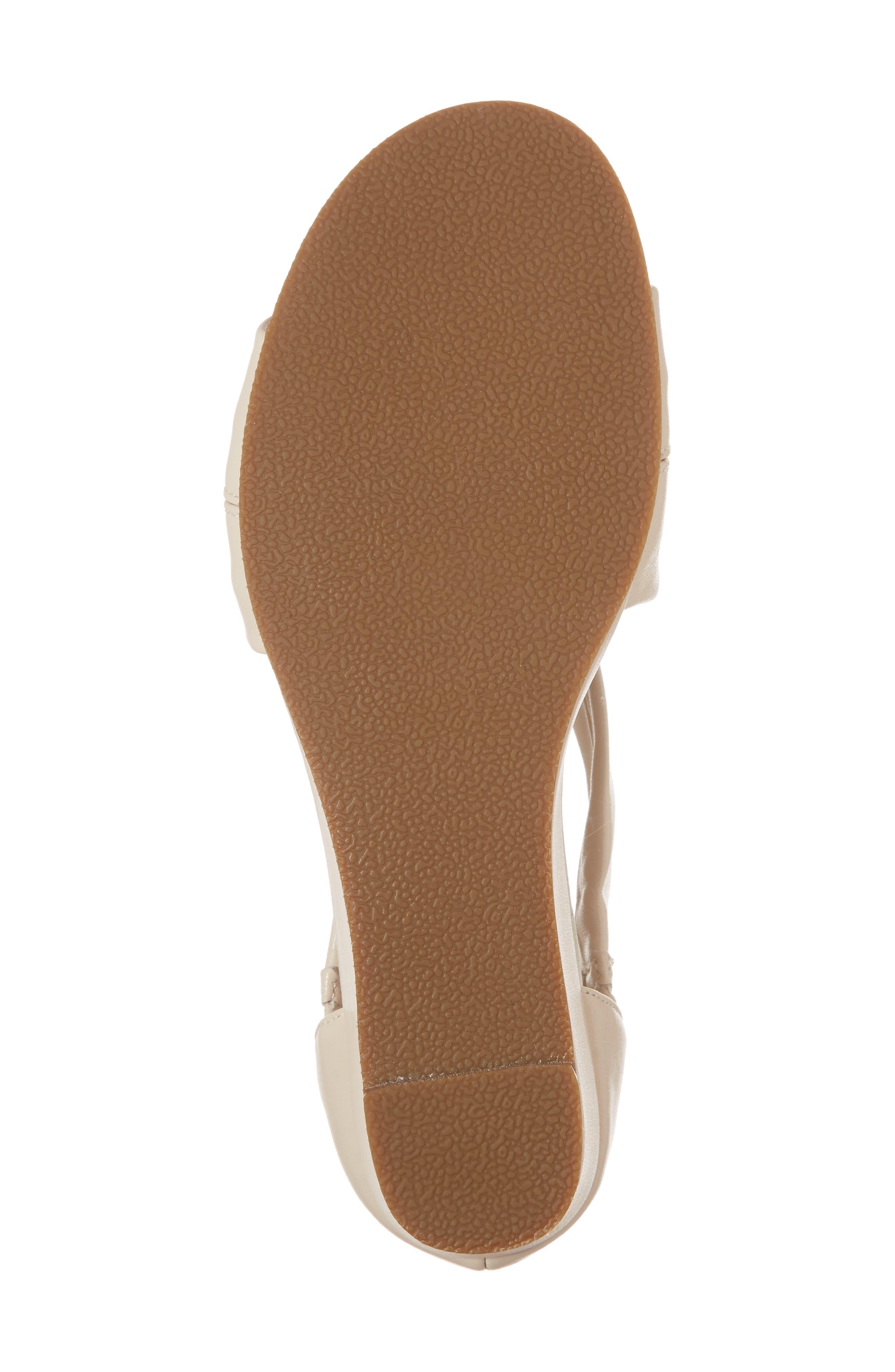 Swell Cross Strap Wedge Sandal,                             Alternate thumbnail 6, color,                             Bone Leather