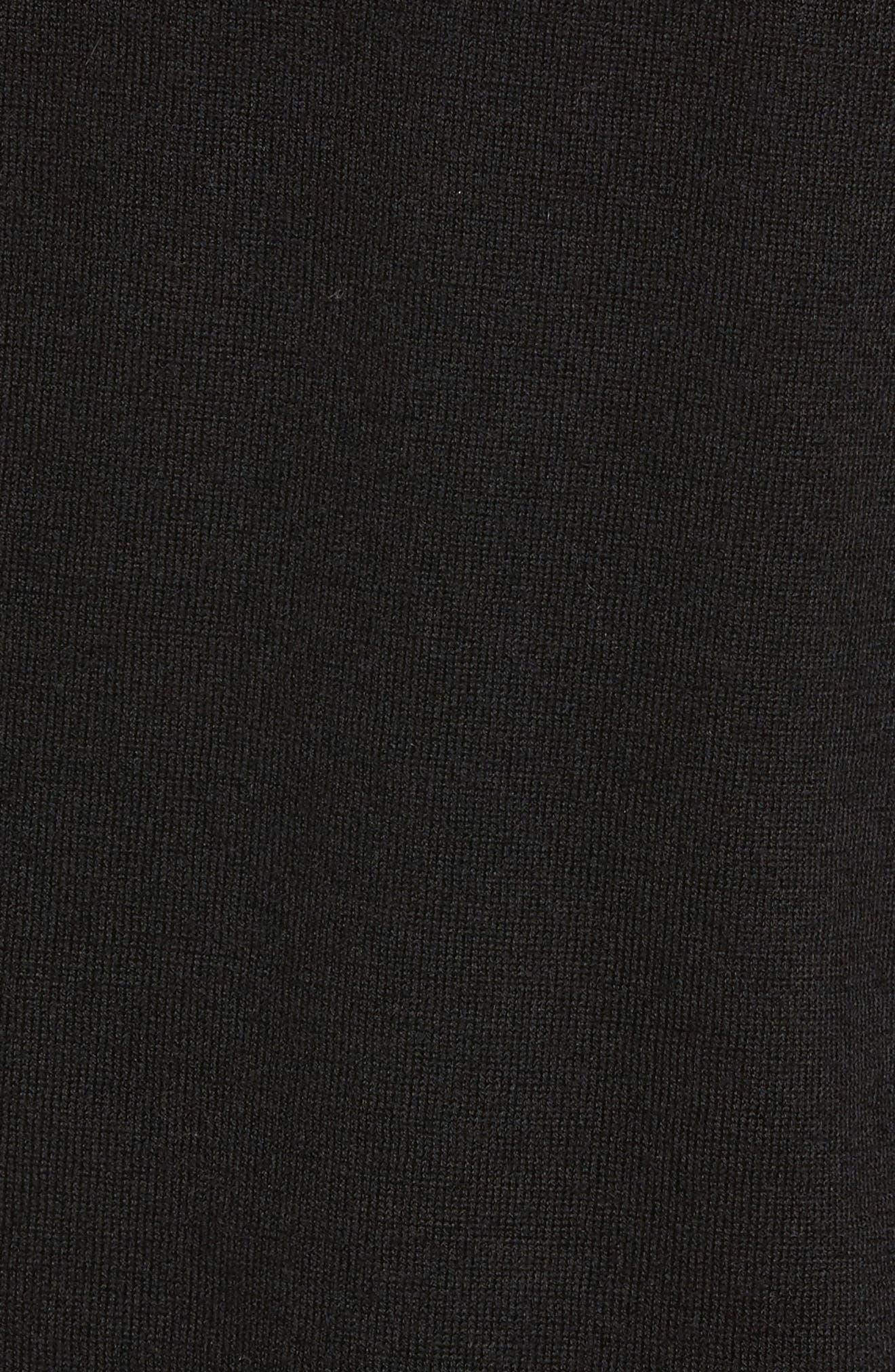 Wool & Cashmere Hoodie,                             Alternate thumbnail 5, color,                             Black