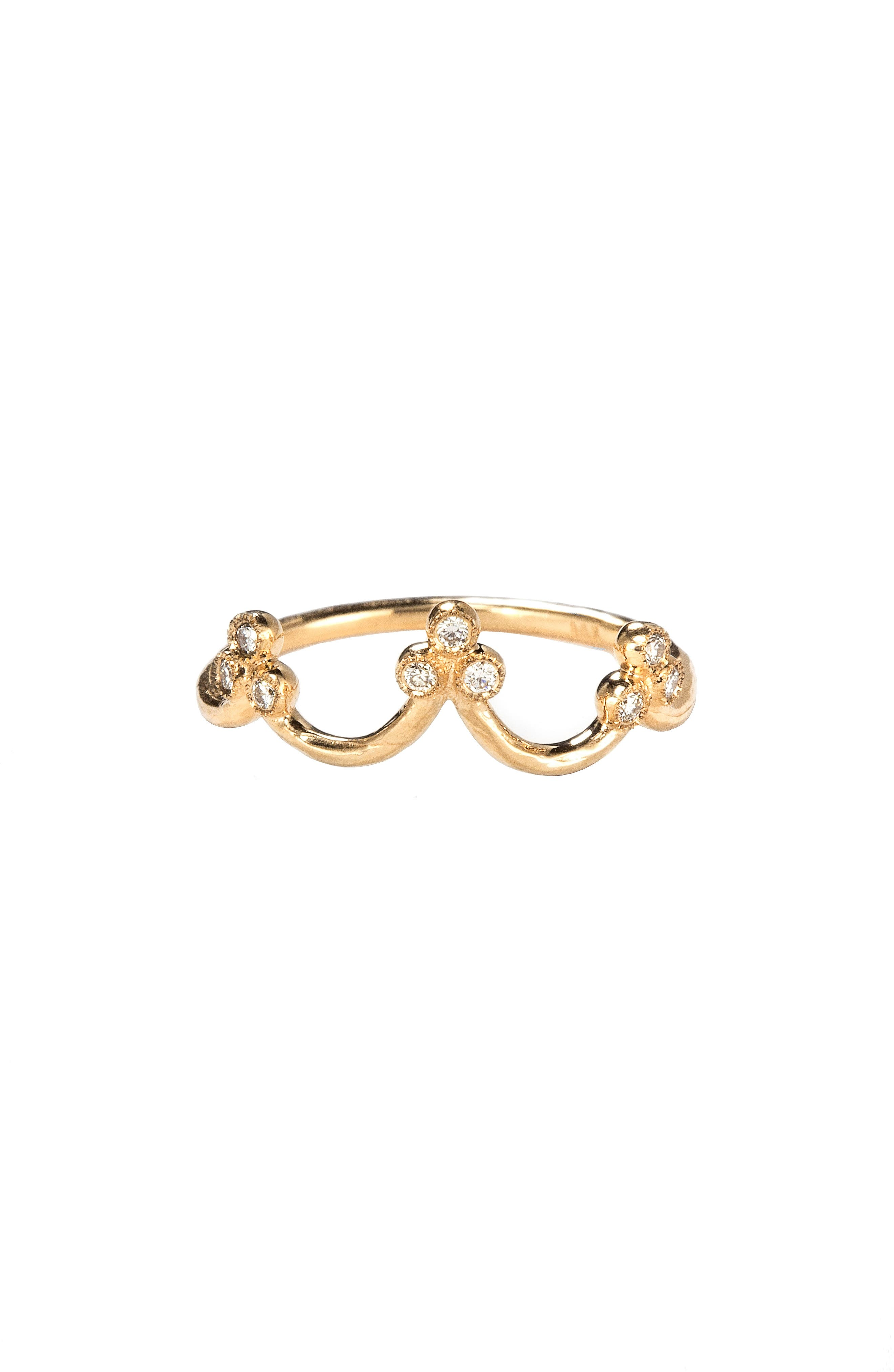 Crown Princess Stack Ring,                         Main,                         color, Yellow Gold