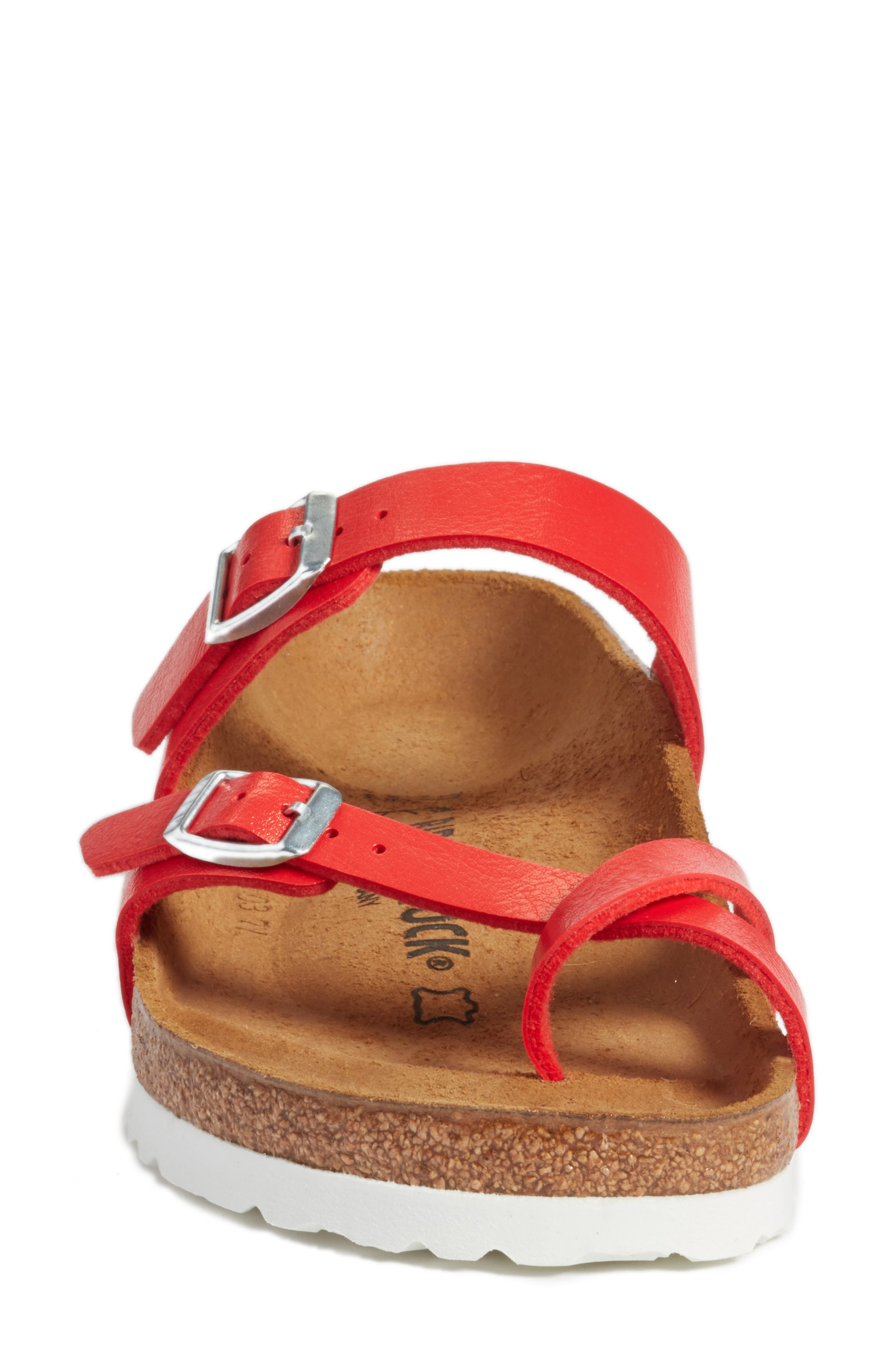 'Mayari' Birko-Flor<sup>™</sup> Sandal,                             Alternate thumbnail 4, color,                             Graceful Hibiscus Leather