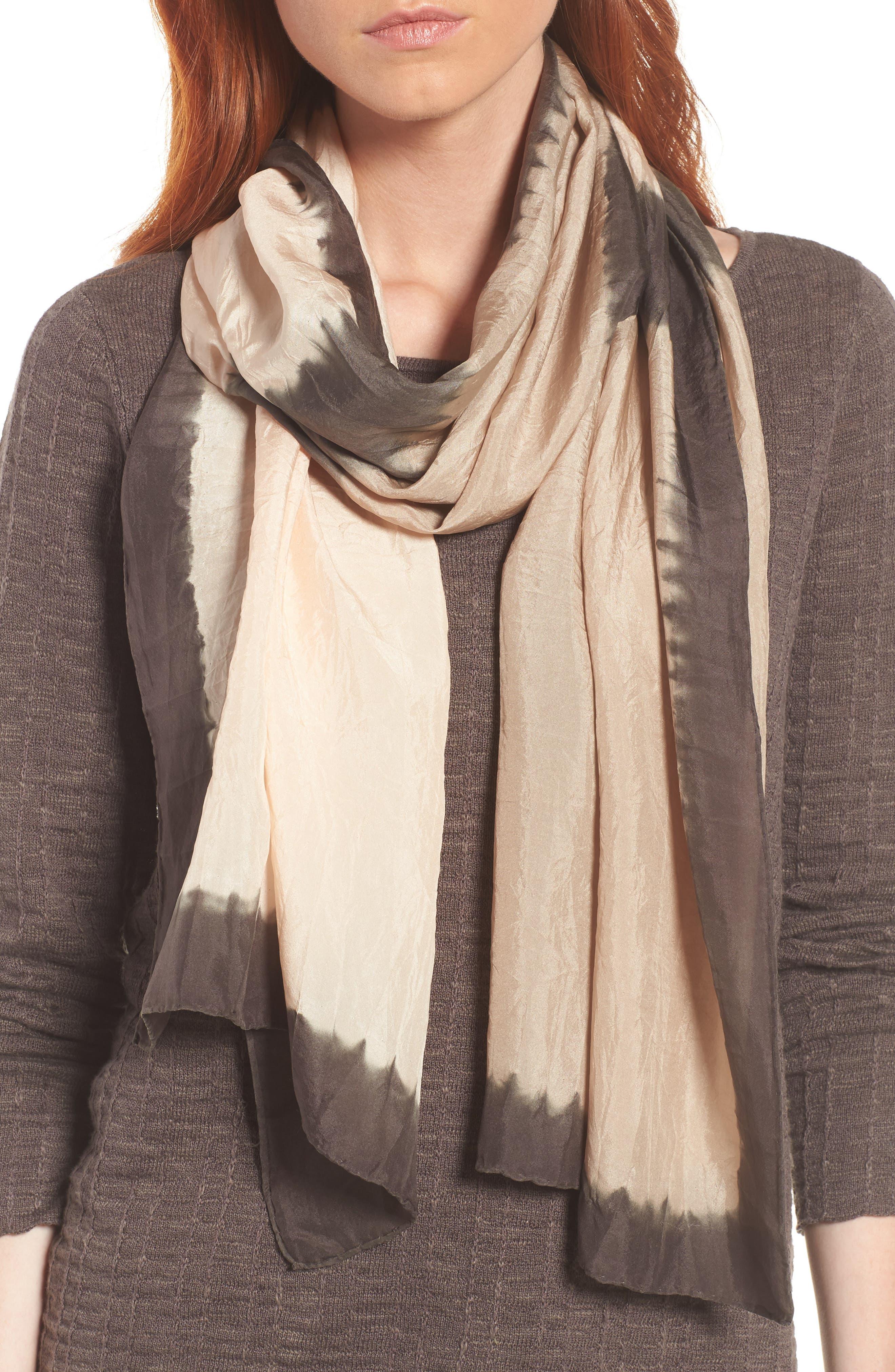 Silk Scarf,                         Main,                         color, Rye