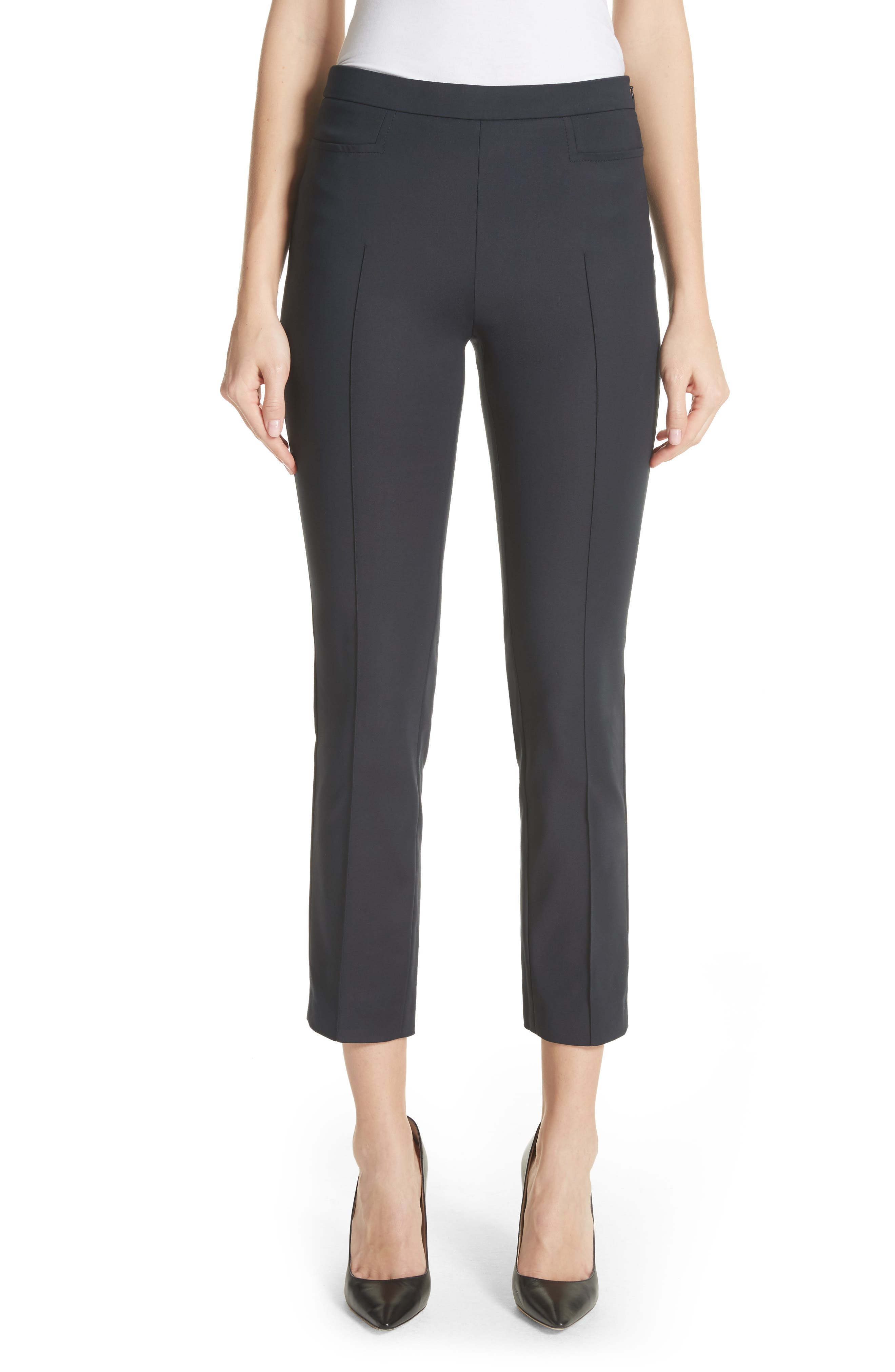 'Franca' Techno Cotton Pants,                         Main,                         color, Deep Navy