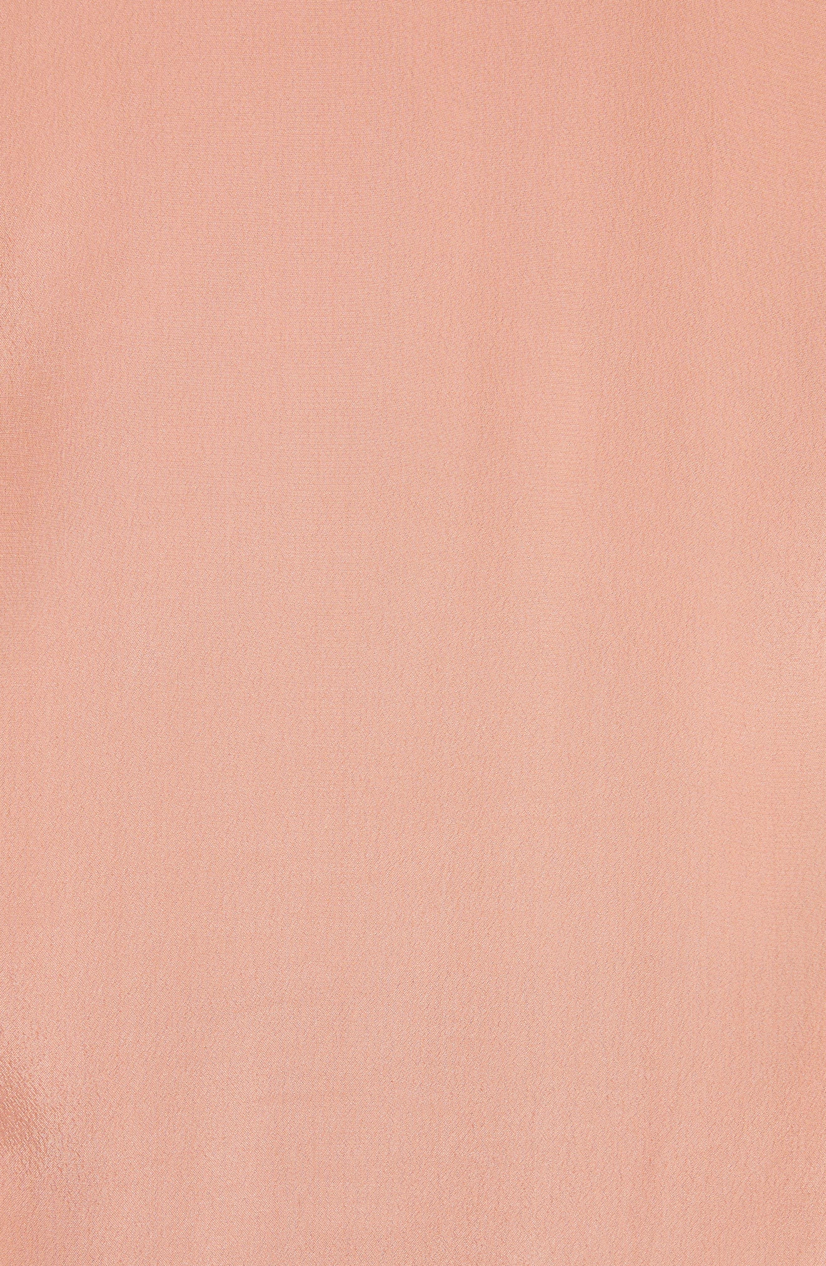 Ruffle Balloon Sleeve Top,                             Alternate thumbnail 5, color,                             Past Rose