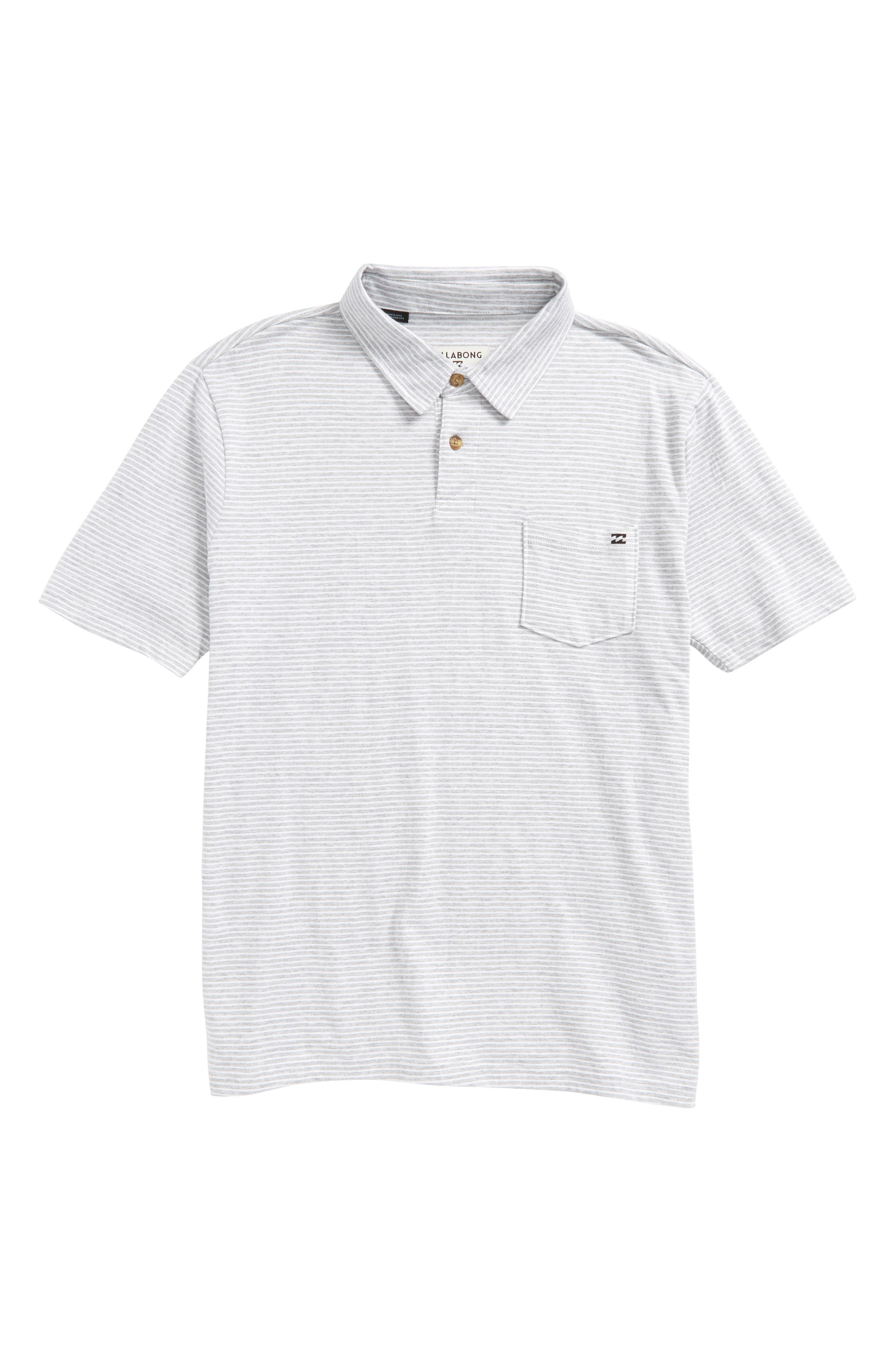 Standard Issue Jersey Polo,                         Main,                         color, Eggshell