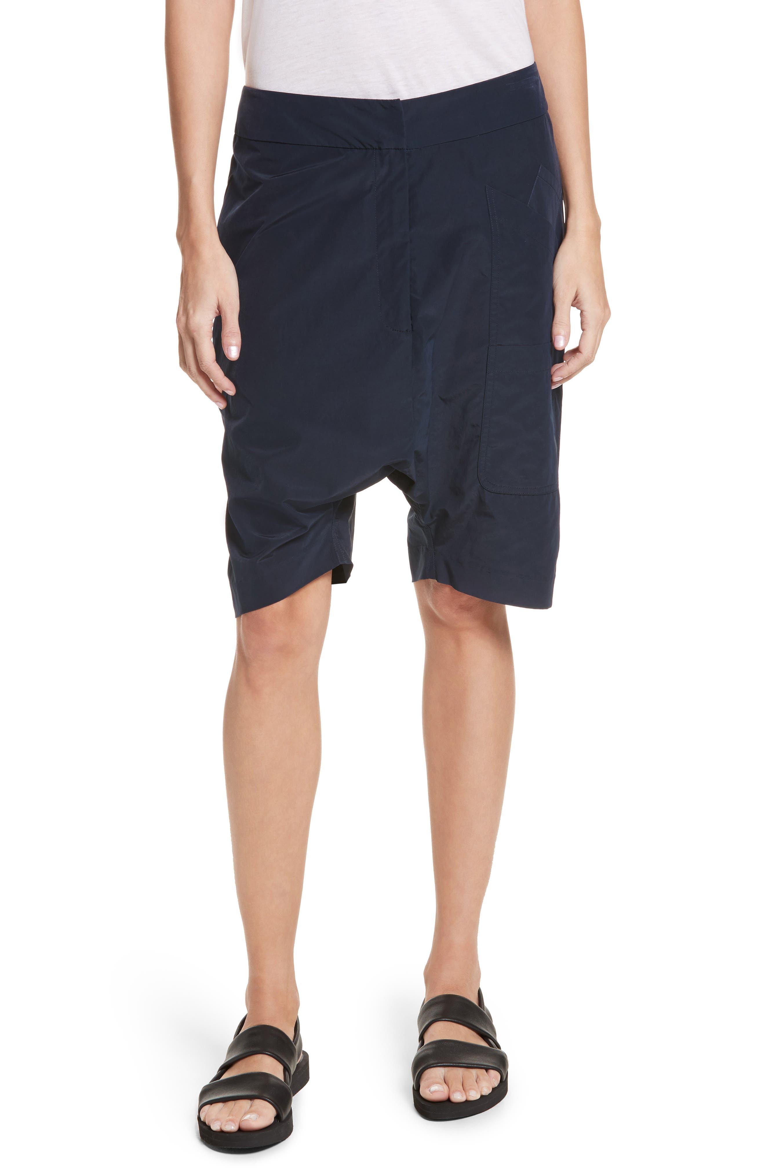Drop Crotch Shorts,                         Main,                         color, Navy