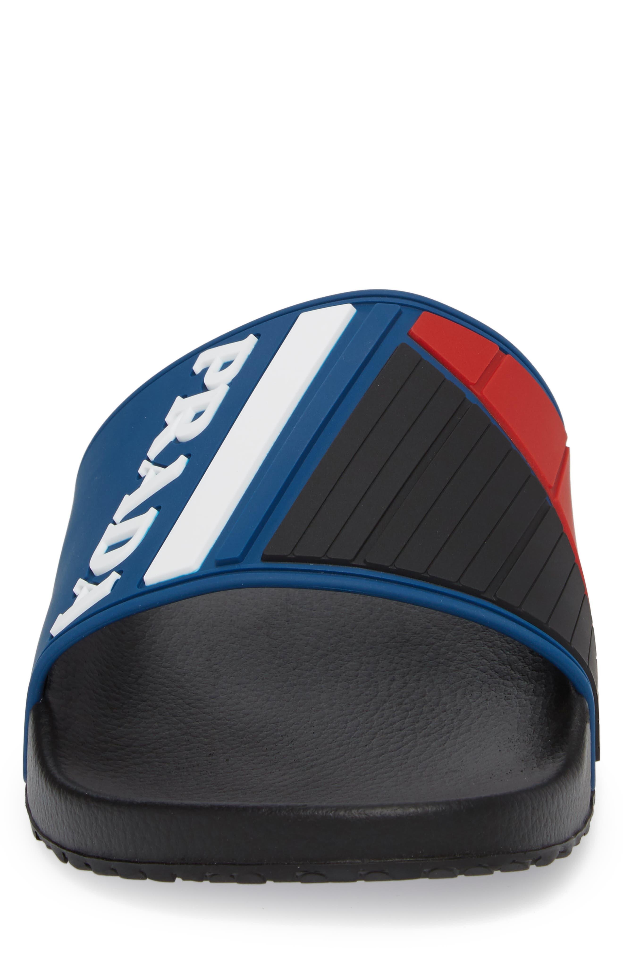 Alternate Image 4  - Prada Linea Rossa Logo Slide Sandal (Men)