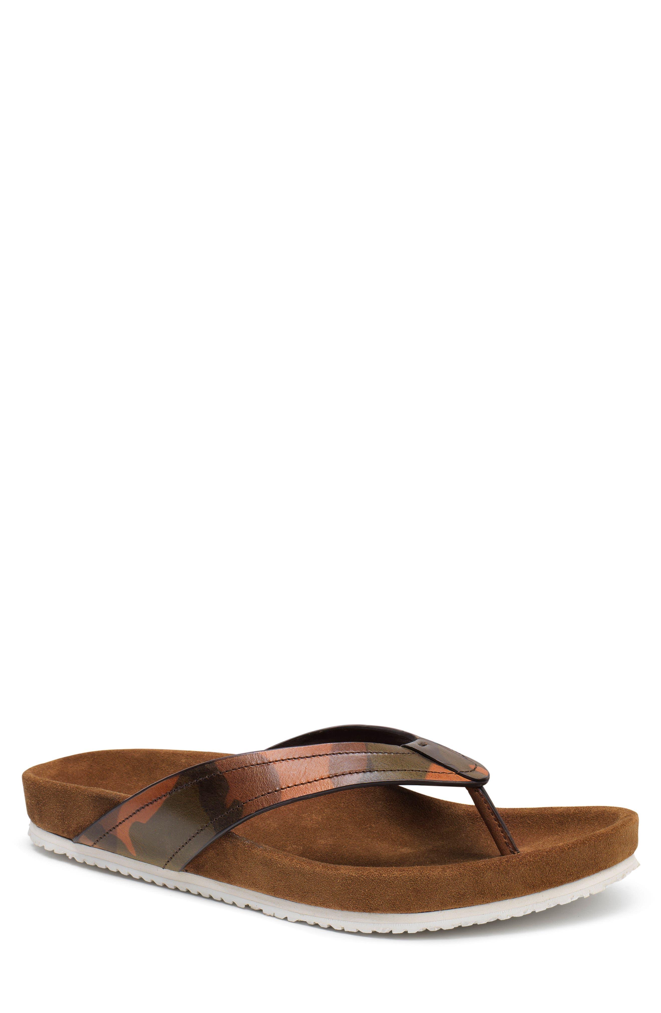 Fleming Flip Flop,                             Main thumbnail 1, color,                             Camoflage Leather