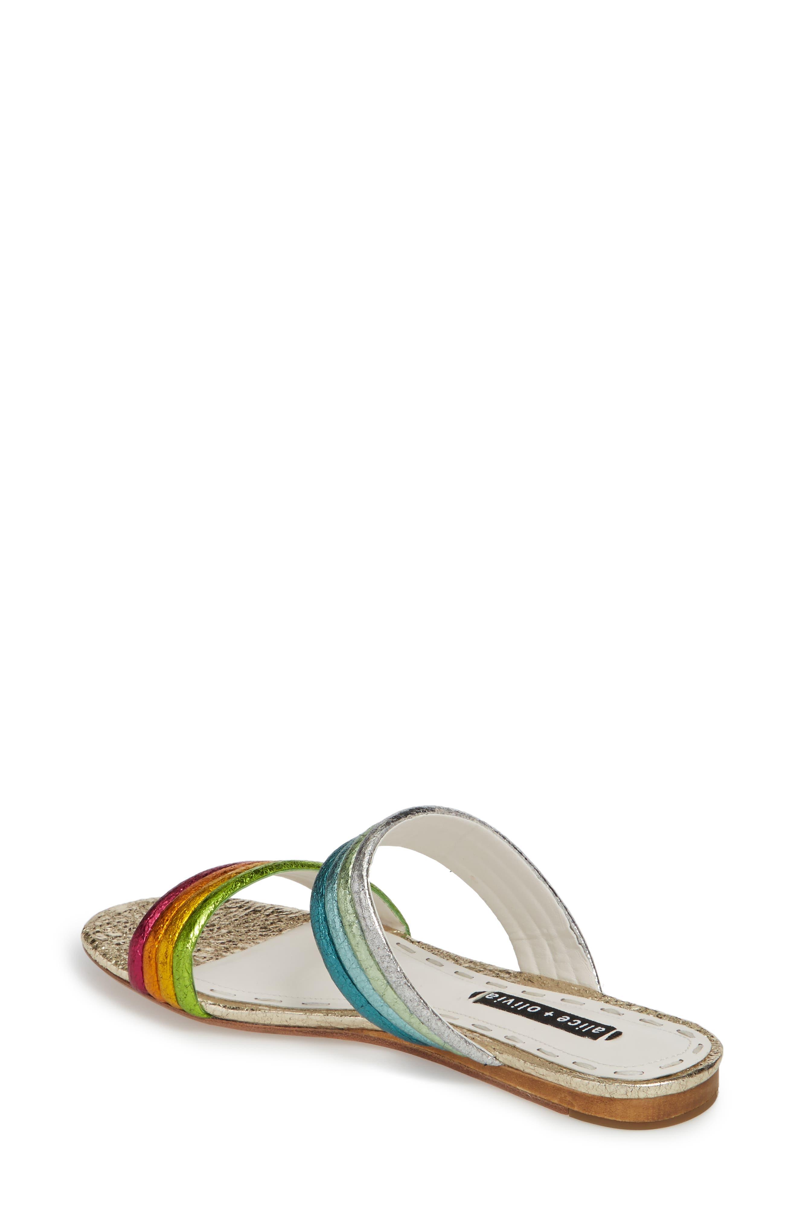 Anya Slide Sandal,                             Alternate thumbnail 2, color,                             Multi