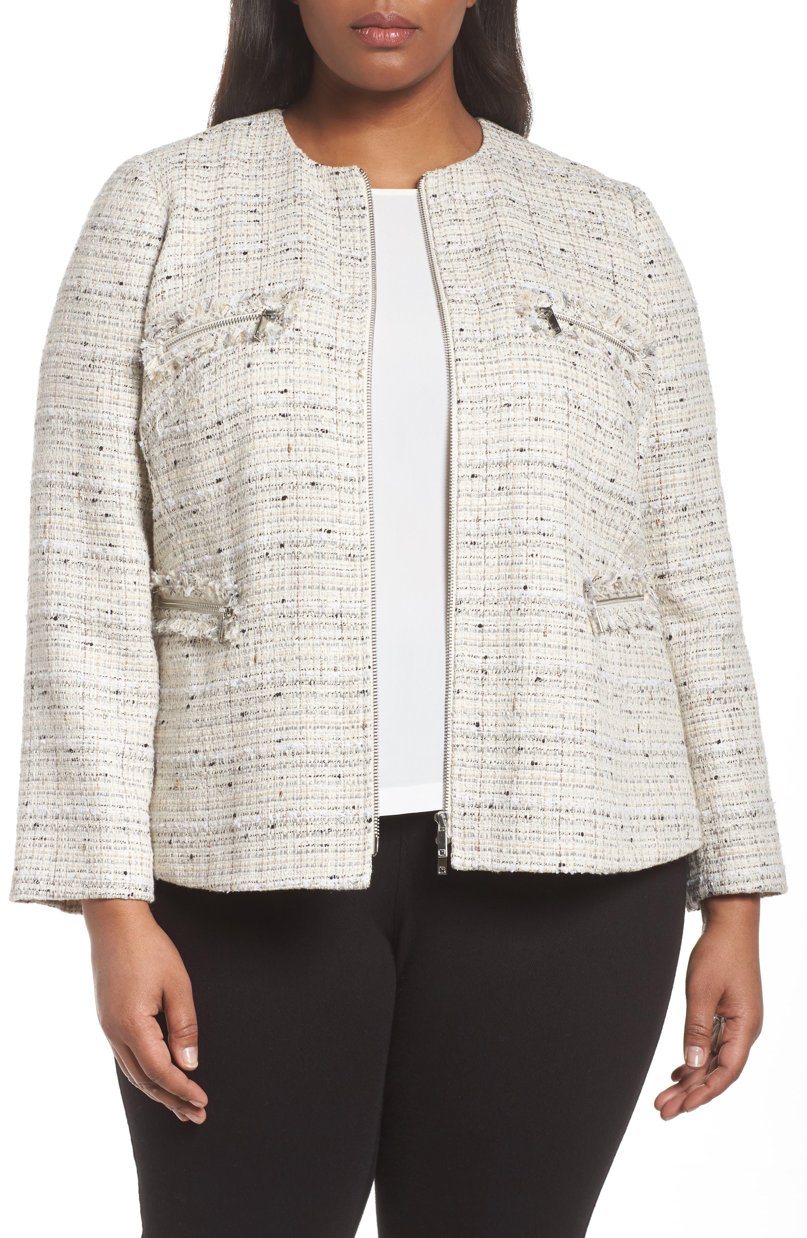 Emelyn Jacket,                         Main,                         color, Raffia Multi