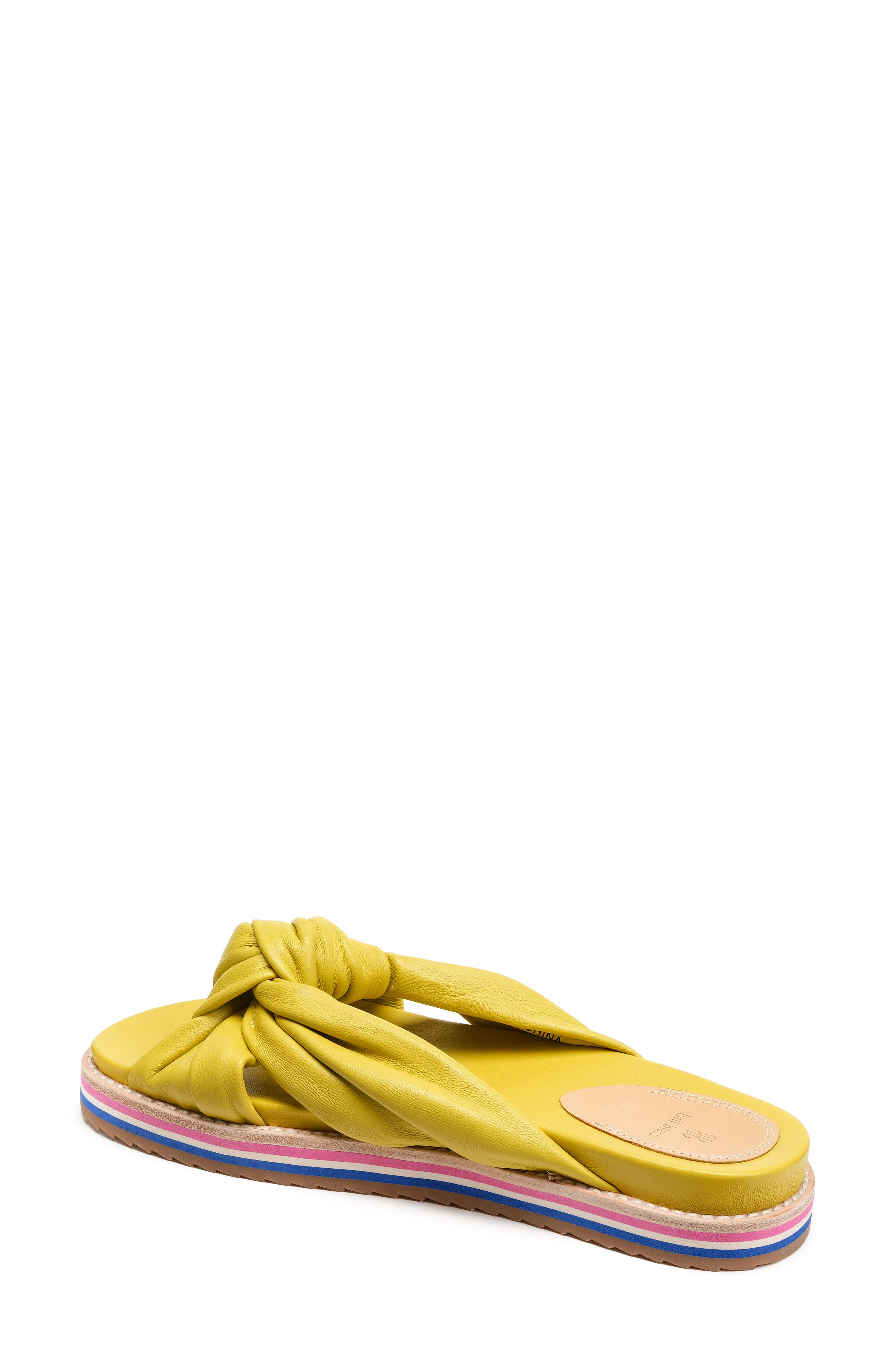 Padget Knotted Slide Sandal,                             Alternate thumbnail 2, color,                             Yellow