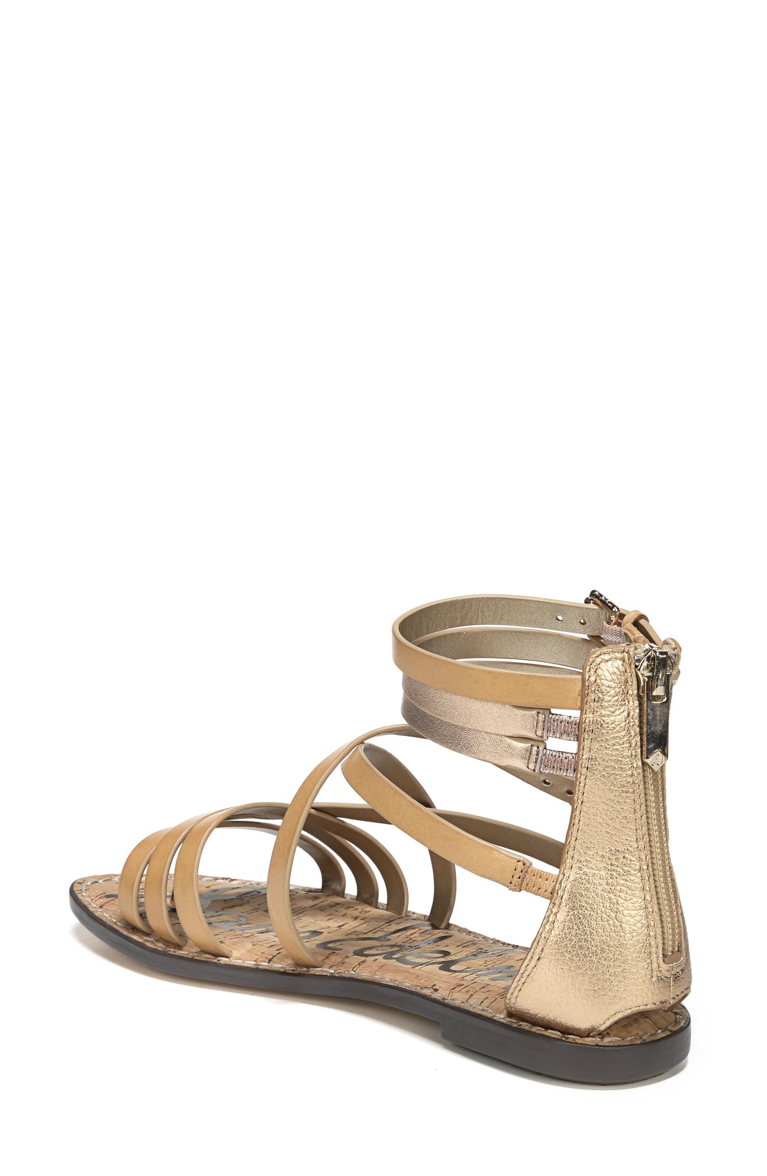 Ganesa Strappy Sandal,                             Alternate thumbnail 2, color,                             Golden Caramel Leather